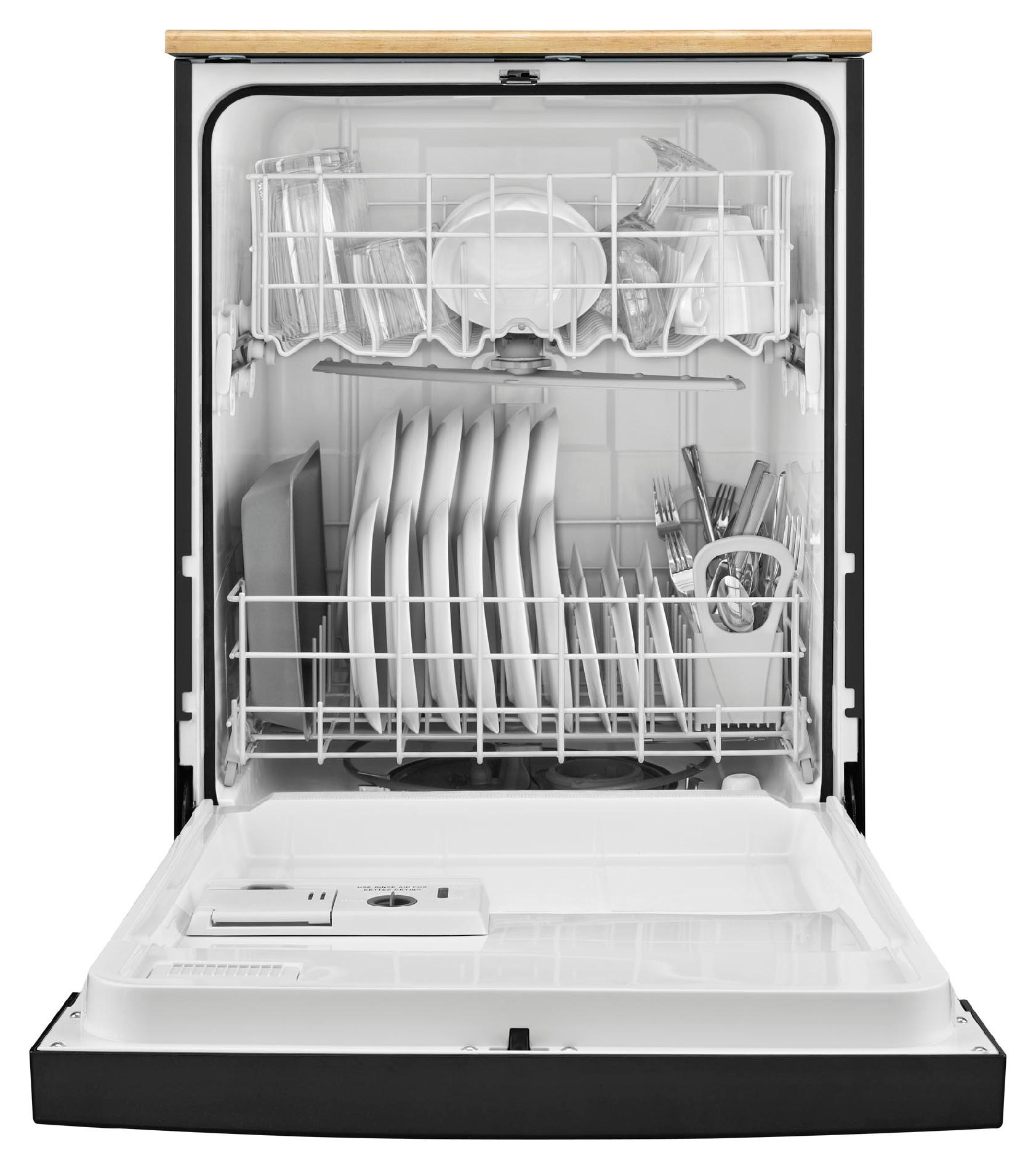 "Whirlpool 24"" Portable Dishwasher w/ 1-Hour Wash - Black"