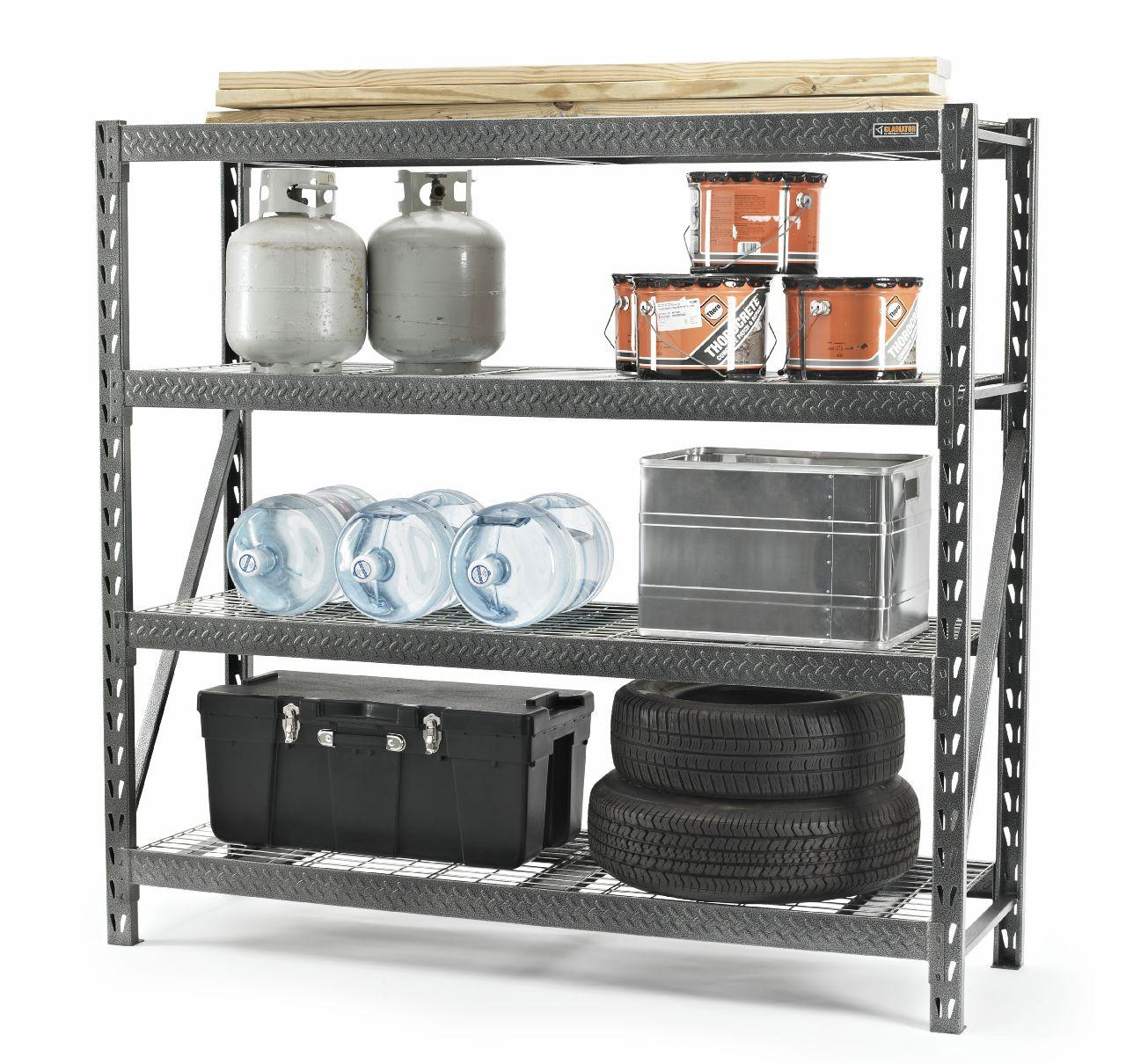 "Gladiator 77"" 4 Shelf Rack 8000 LB Capacity"