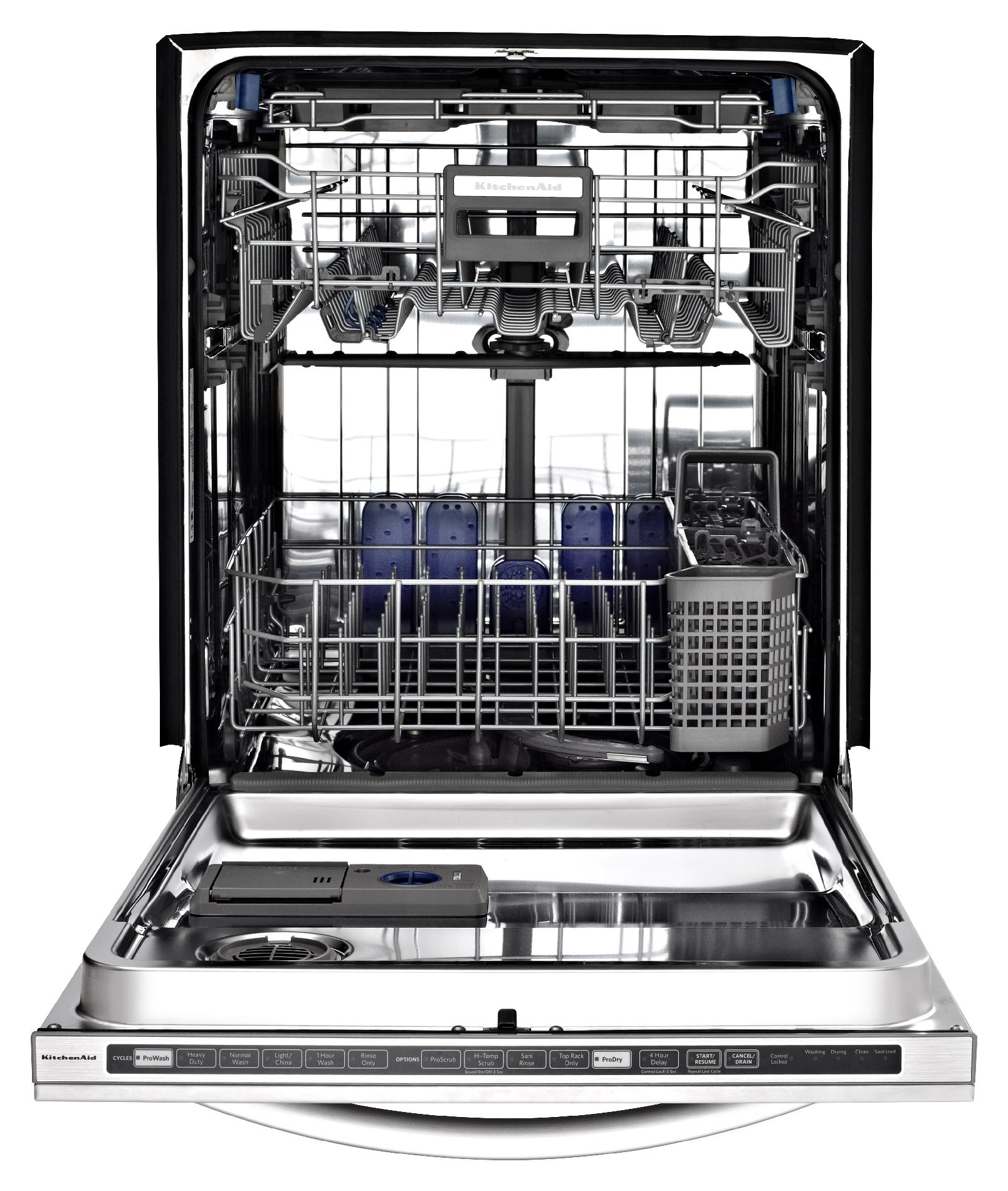 "KitchenAid 24"" Superba EQ Built-In Dishwasher - Black"