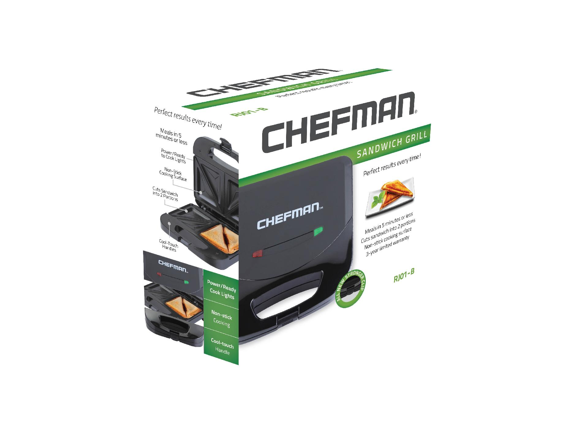 Chefman Black Sandwich Grill Maker