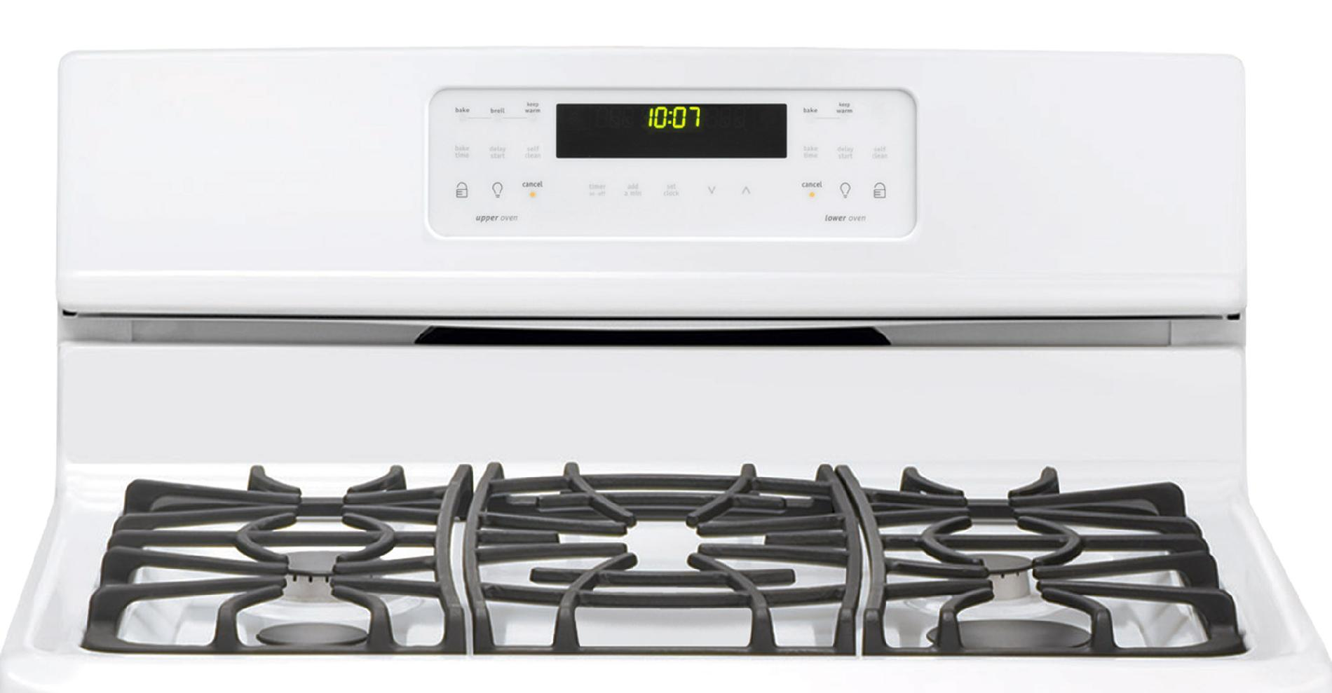 Frigidaire Gallery 6.7 cu. ft. Double-Oven Gas Range - White
