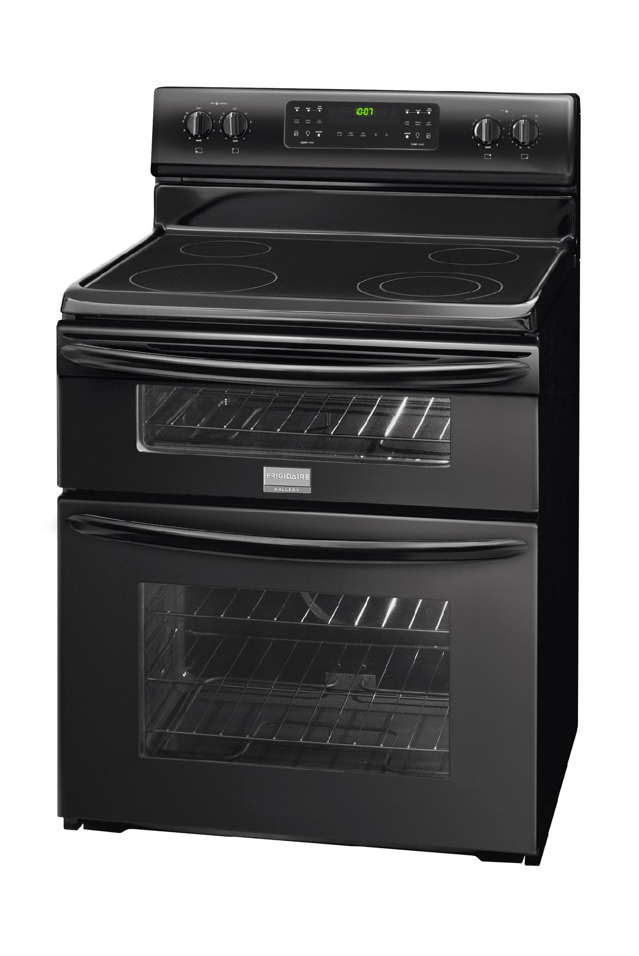 Frigidaire Gallery 6.64 cu. ft.Double-Oven Electric Range - Black