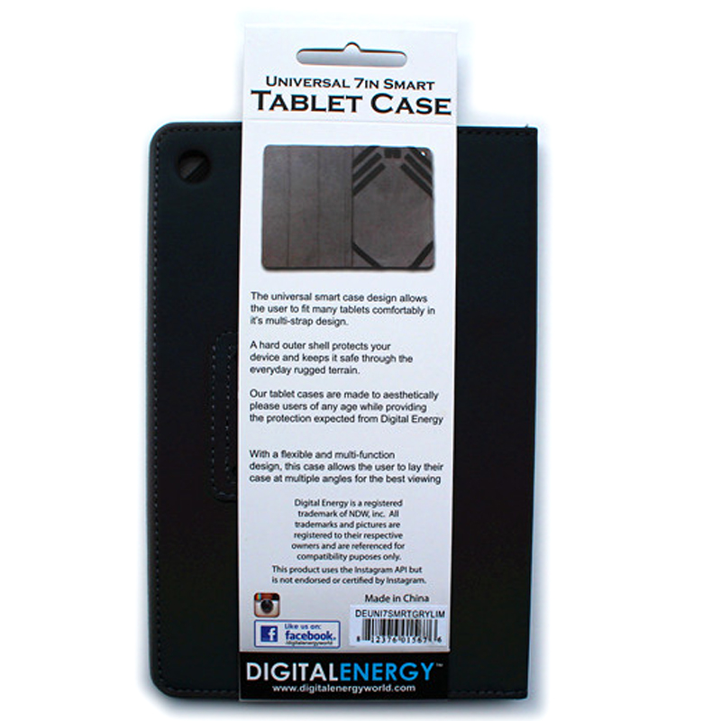 "Digital Energy 7"" Universal Tablet Case - Grey/Lime"
