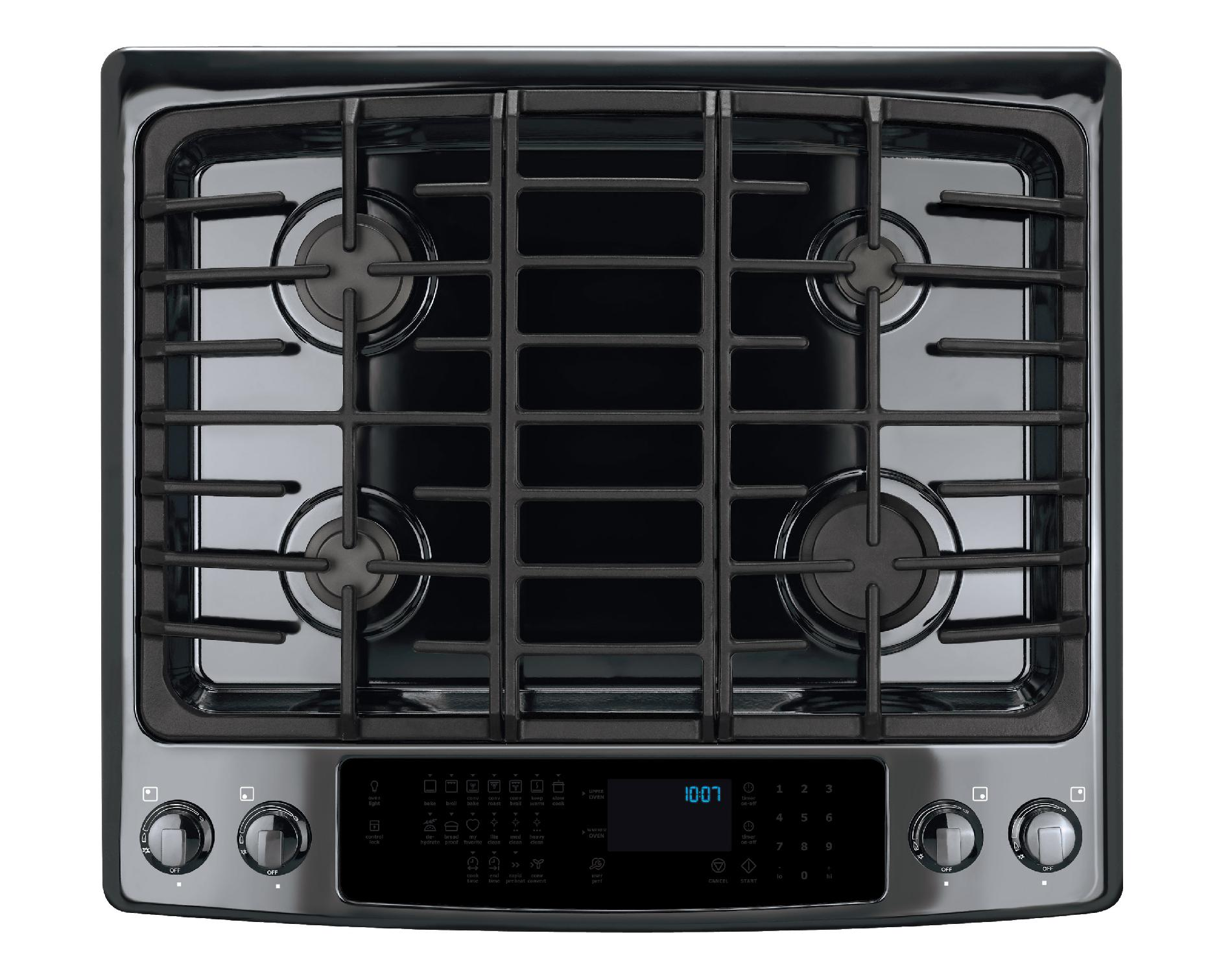 "Electrolux 30"" Slide-In Dual-Fuel Range w/ IQ-Touch™ Controls - Black"