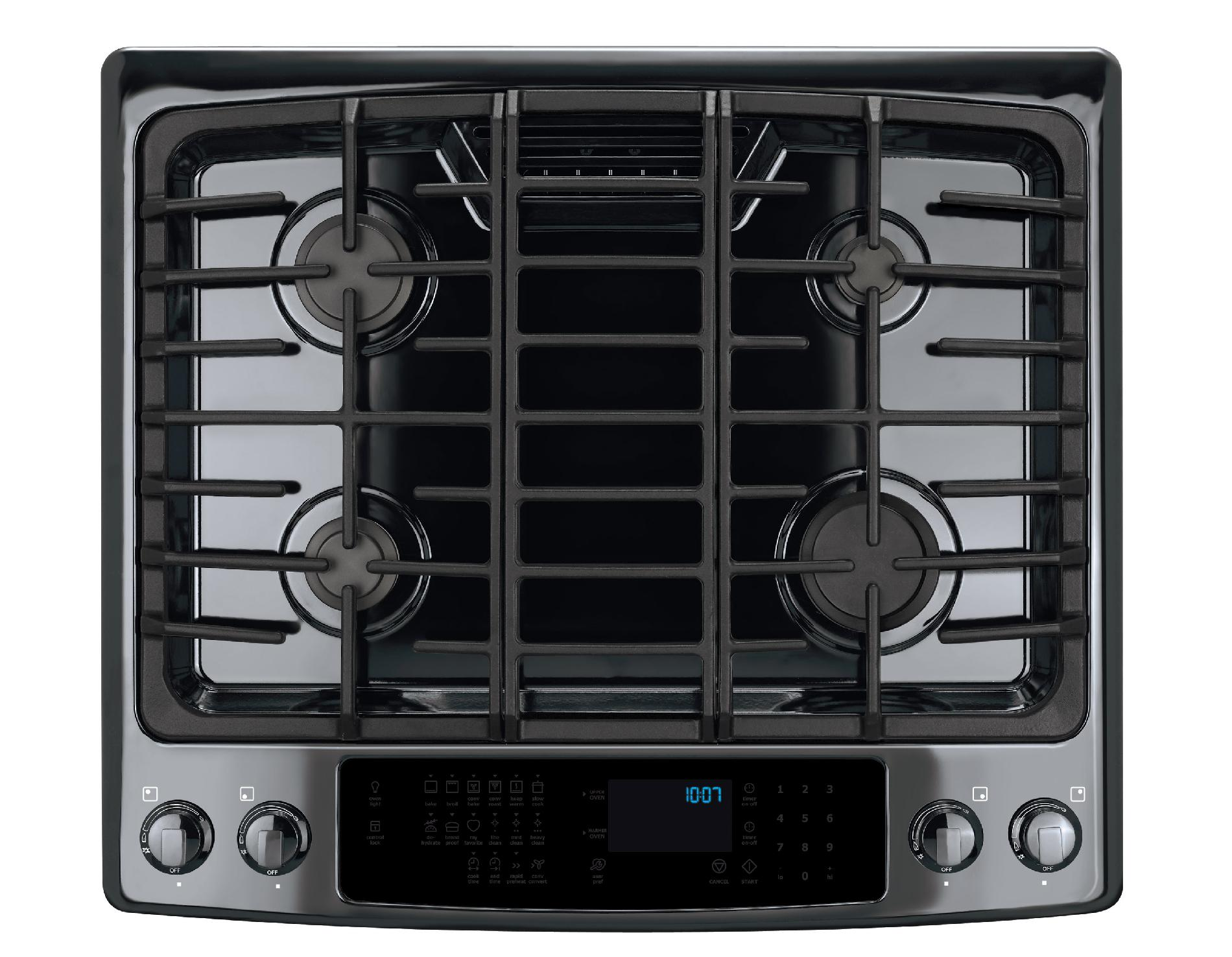 "Electrolux 30"" Slide-In Gas Range w/ IQ-Touch™ Controls - Black"