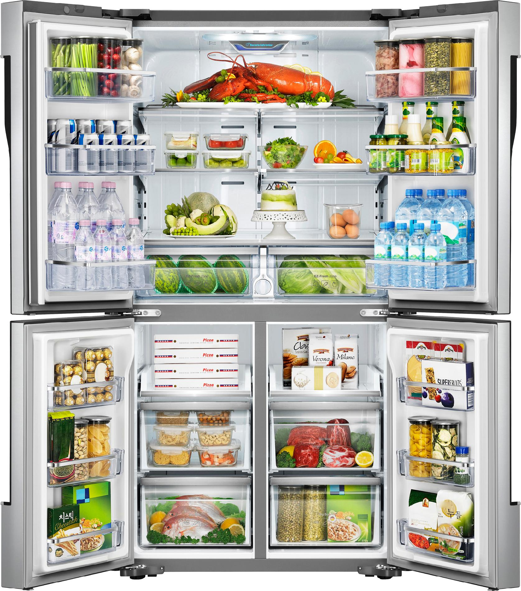 Samsung 32 cu. ft. 4-Door Refrigerator w/ Convertible Zone - Stainless Steel