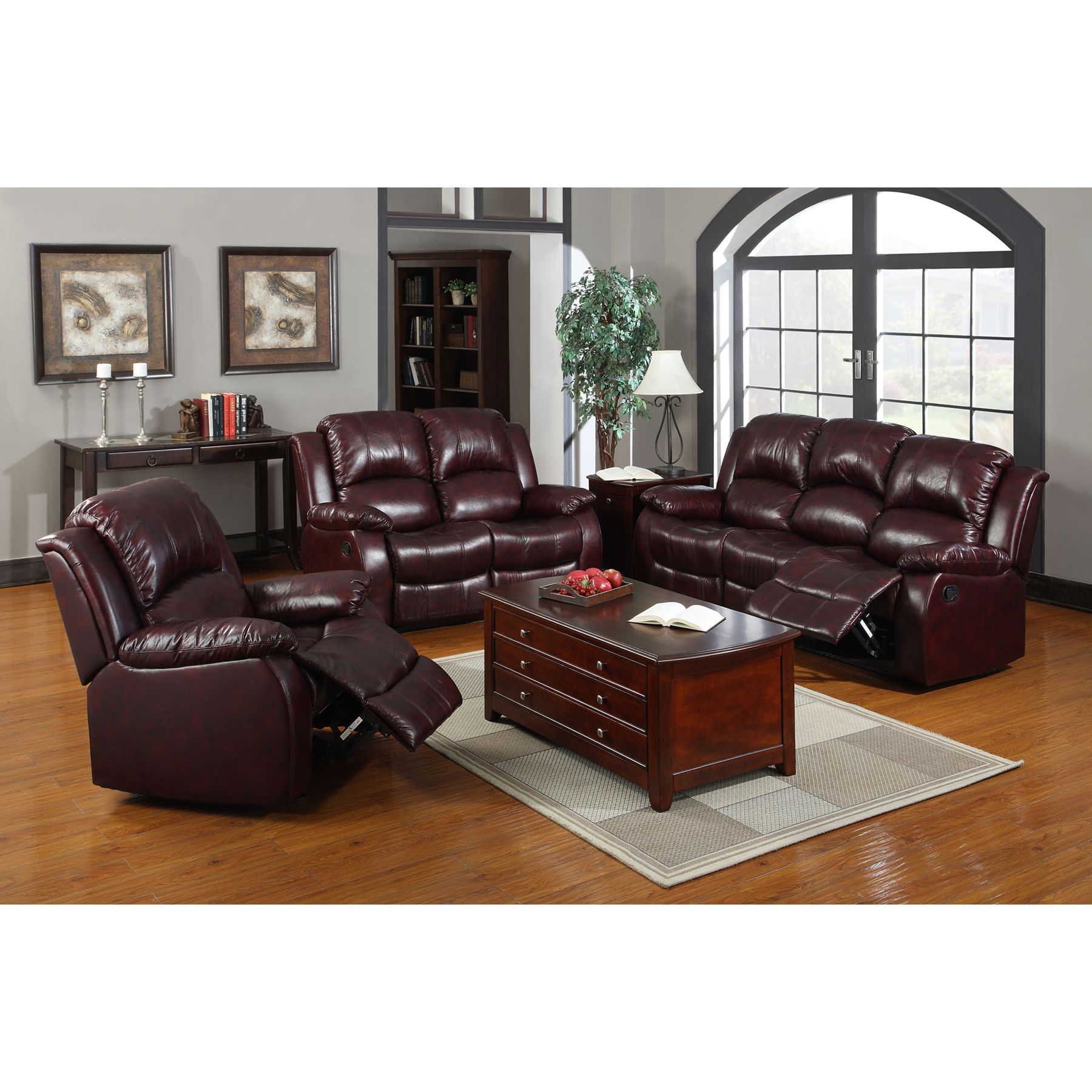 Venetian Worldwide Devon Leather-Like Recliner Chair