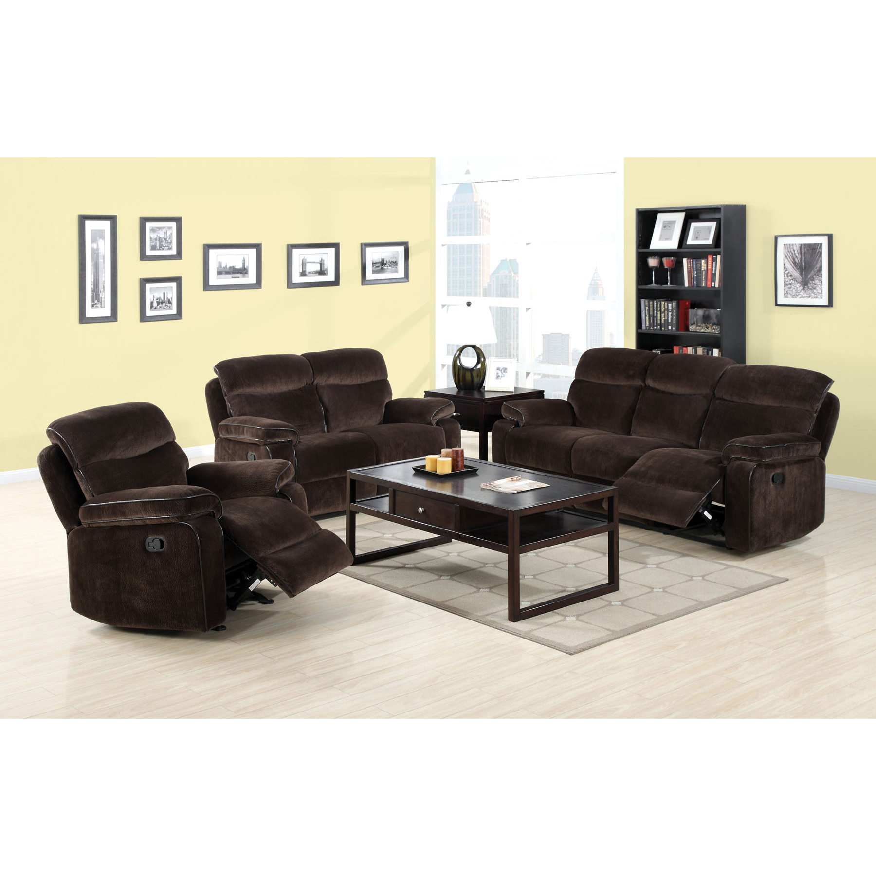 Venetian Worldwide Worcester Champion Fabric Recliner Sofa