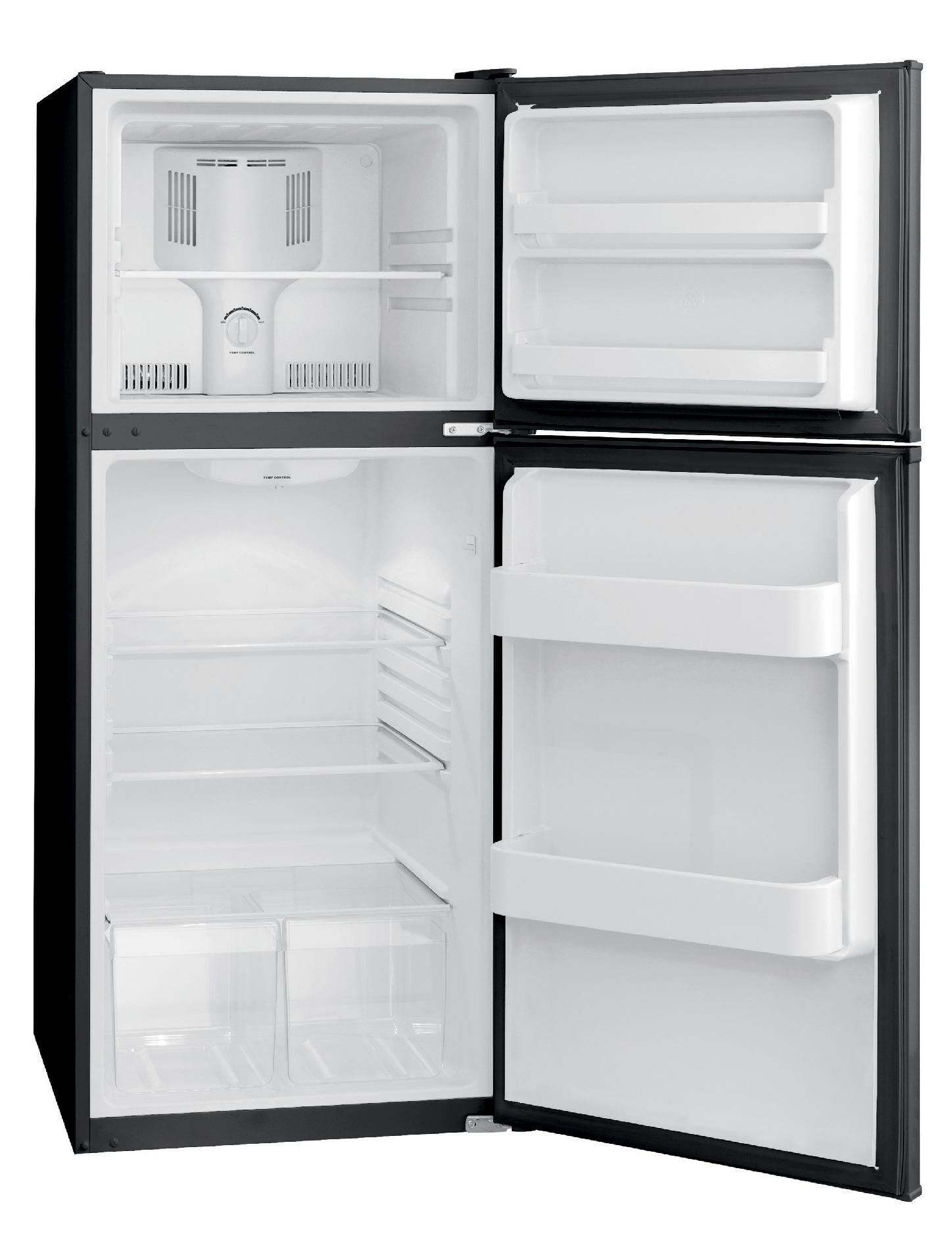 Frigidaire 10.0 cu. ft. Top-Freezer Refrigerator - Black