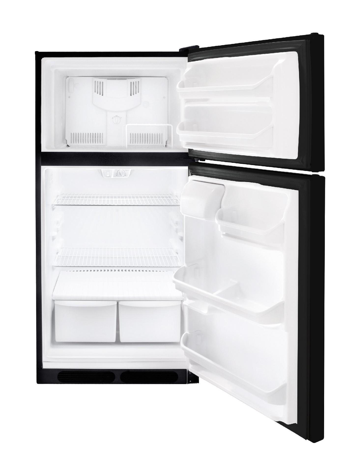 Frigidaire 14.8 cu. ft. Top-Freezer Refrigerator - Black