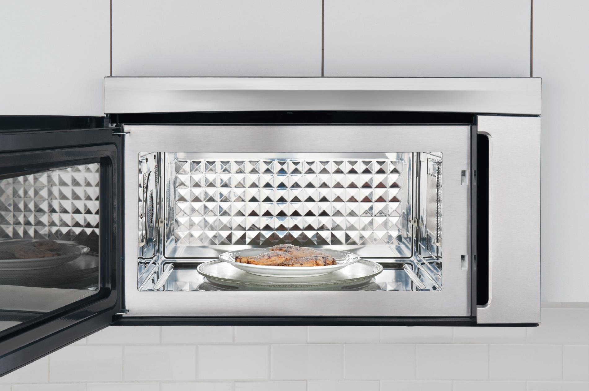 Electrolux EI30BM60MS 1.8 cu. ft. Over-the-Range Convection Microwave Oven w/ Bottom Controls - Stainless Steel