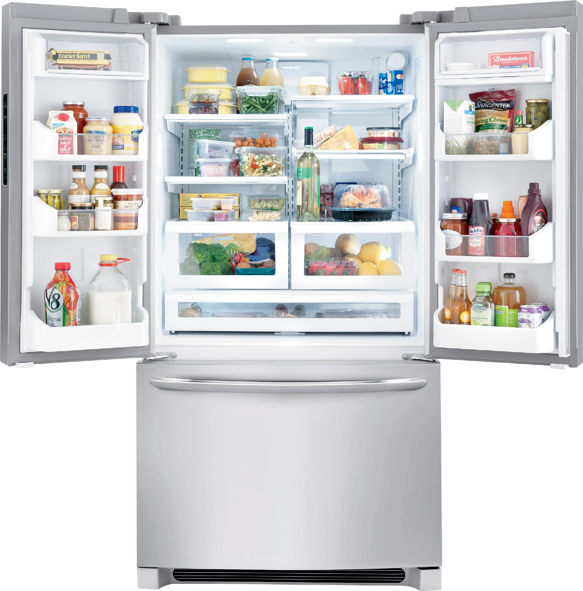 Frigidaire Gallery FGHG2366PF 22.6 cu. ft. Counter-Depth French Door Refrigerator - Stainless Steel