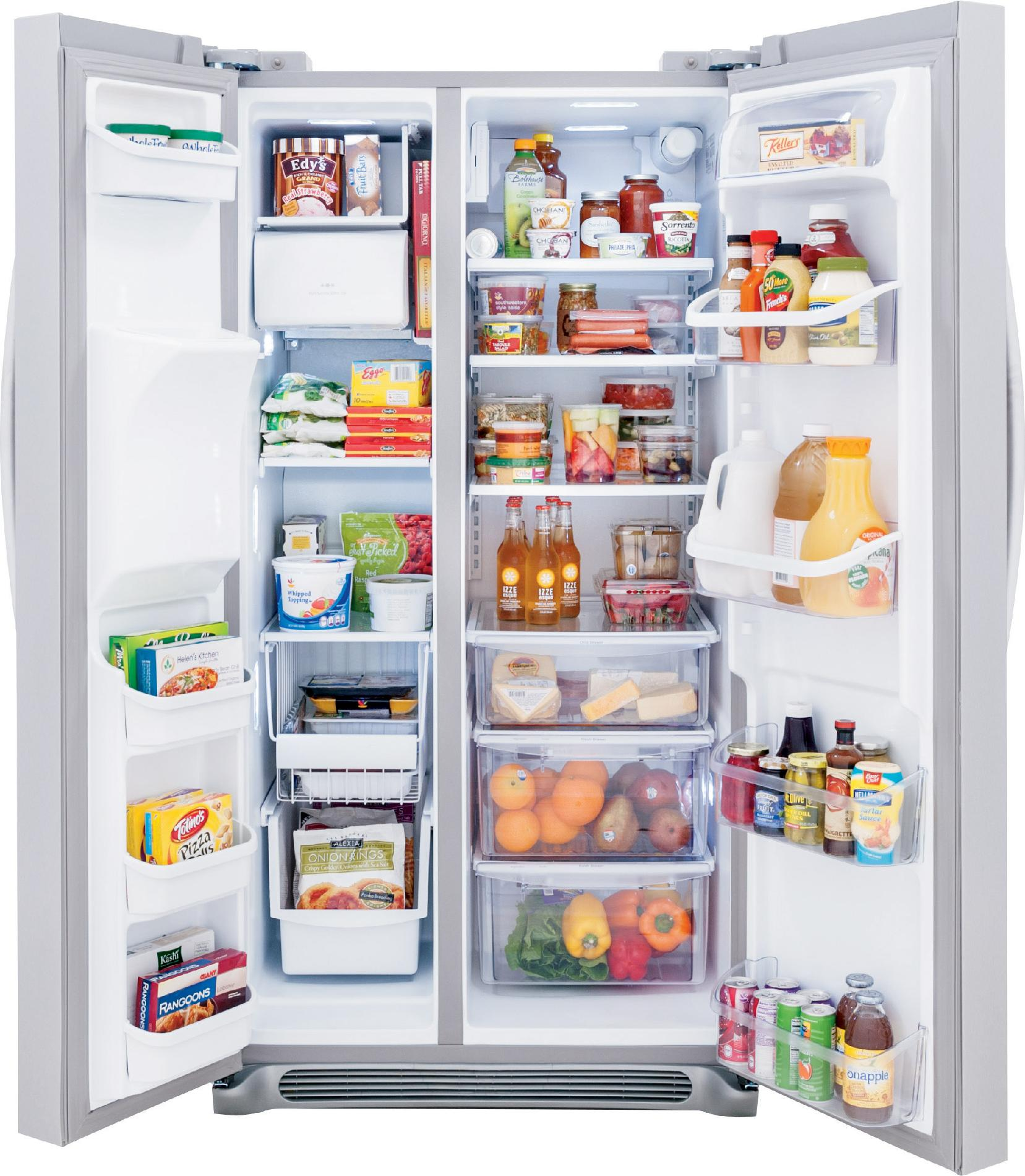 Frigidaire Gallery 22.6 cu. ft. Side-by-Side Refrigerator - Stainless Steel