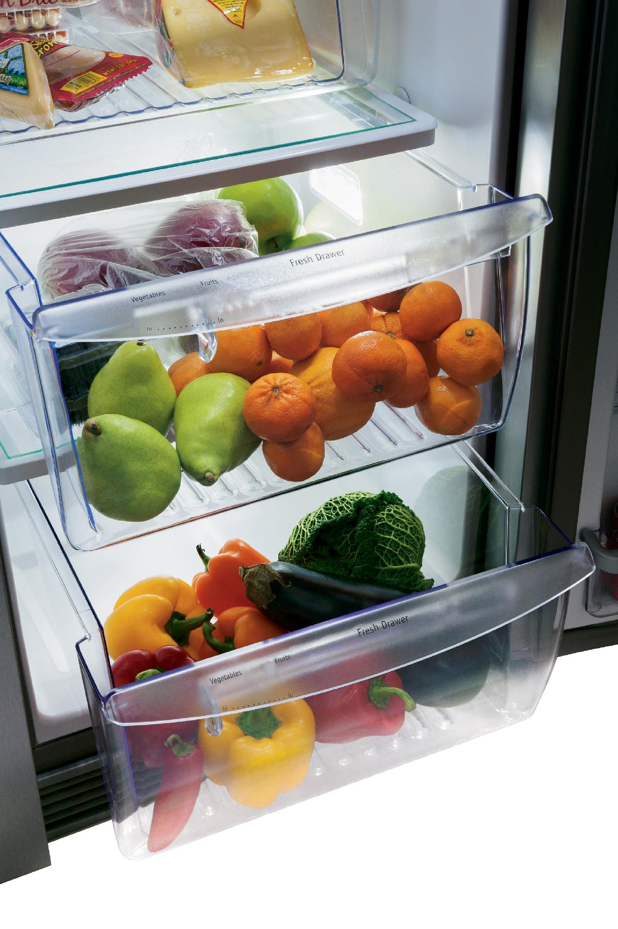 Frigidaire Gallery FGHS2355PF 22.6 cu. ft. Side-by-Side Refrigerator - Stainless Steel