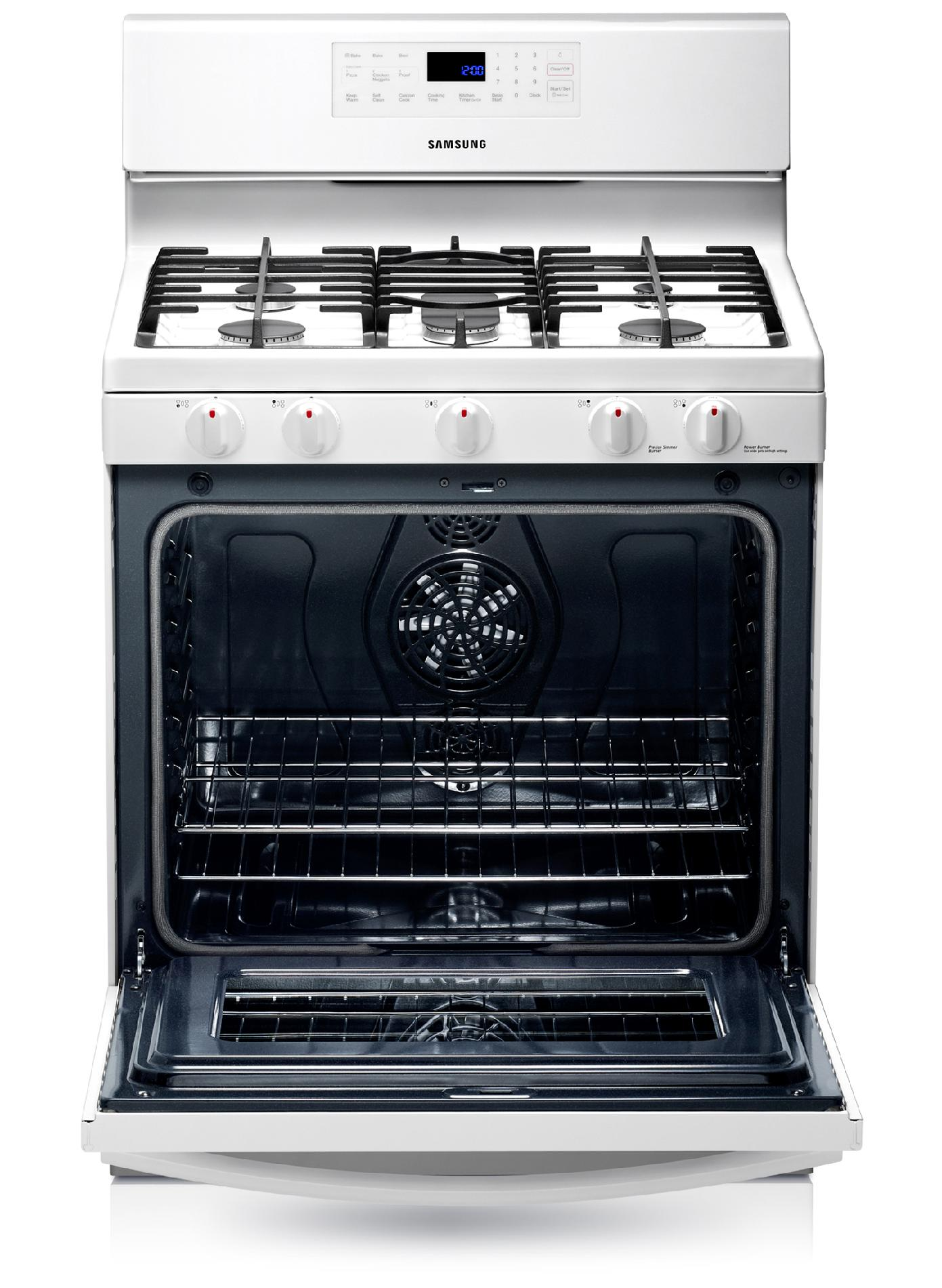 Samsung 5.8 cu. ft. Gas Range -  White