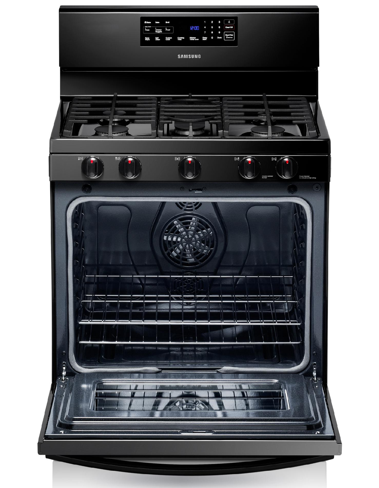 Samsung 5.8 cu. ft. Gas Range - Black