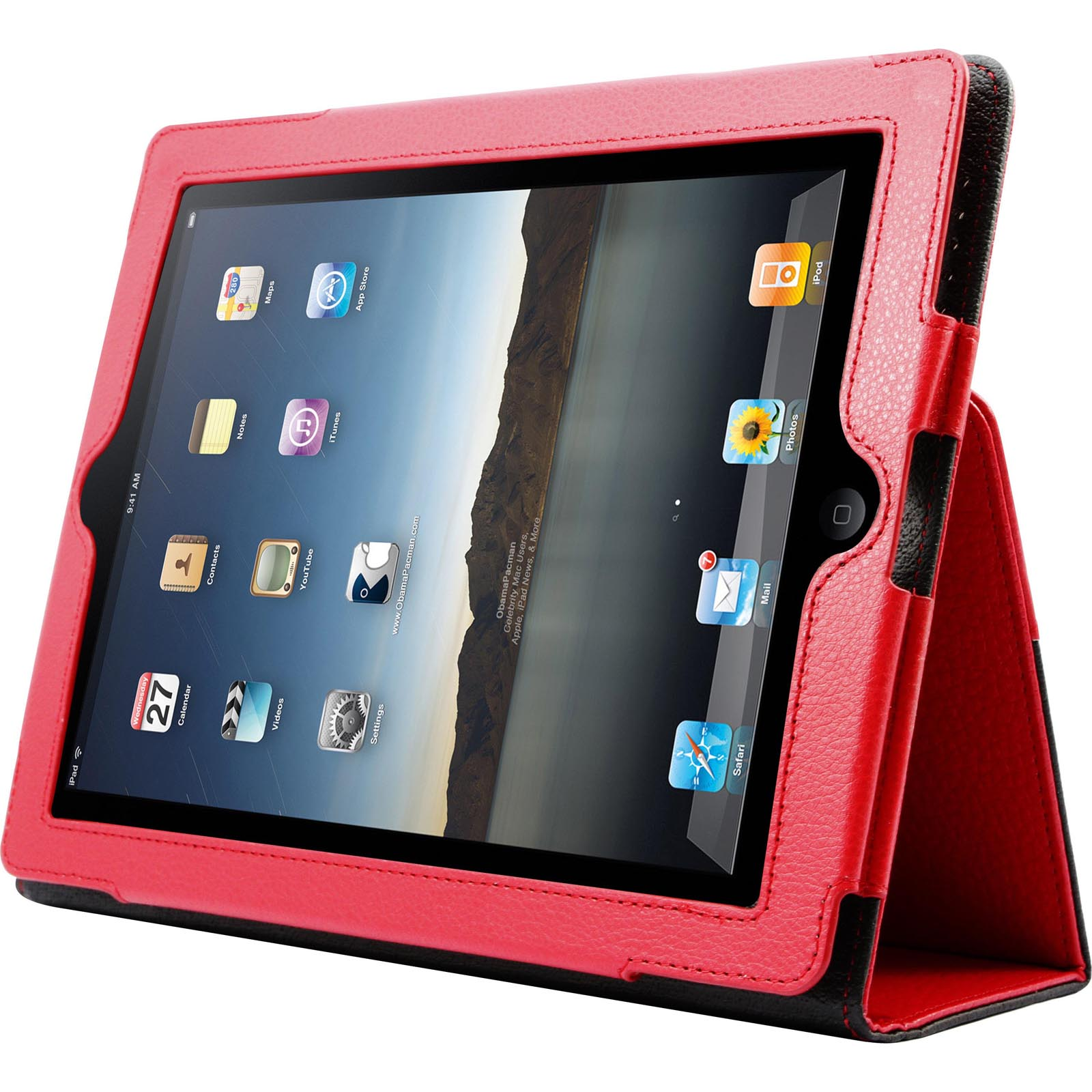 WOW Leather Case for iPad - Red