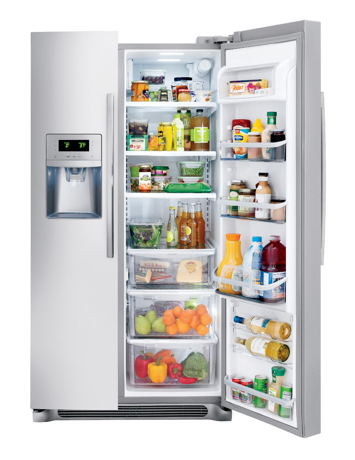 Frigidaire Professional 22.6 cu. ft. Counter-Depth Side-by-Side Refrigerator - Stainless Steel