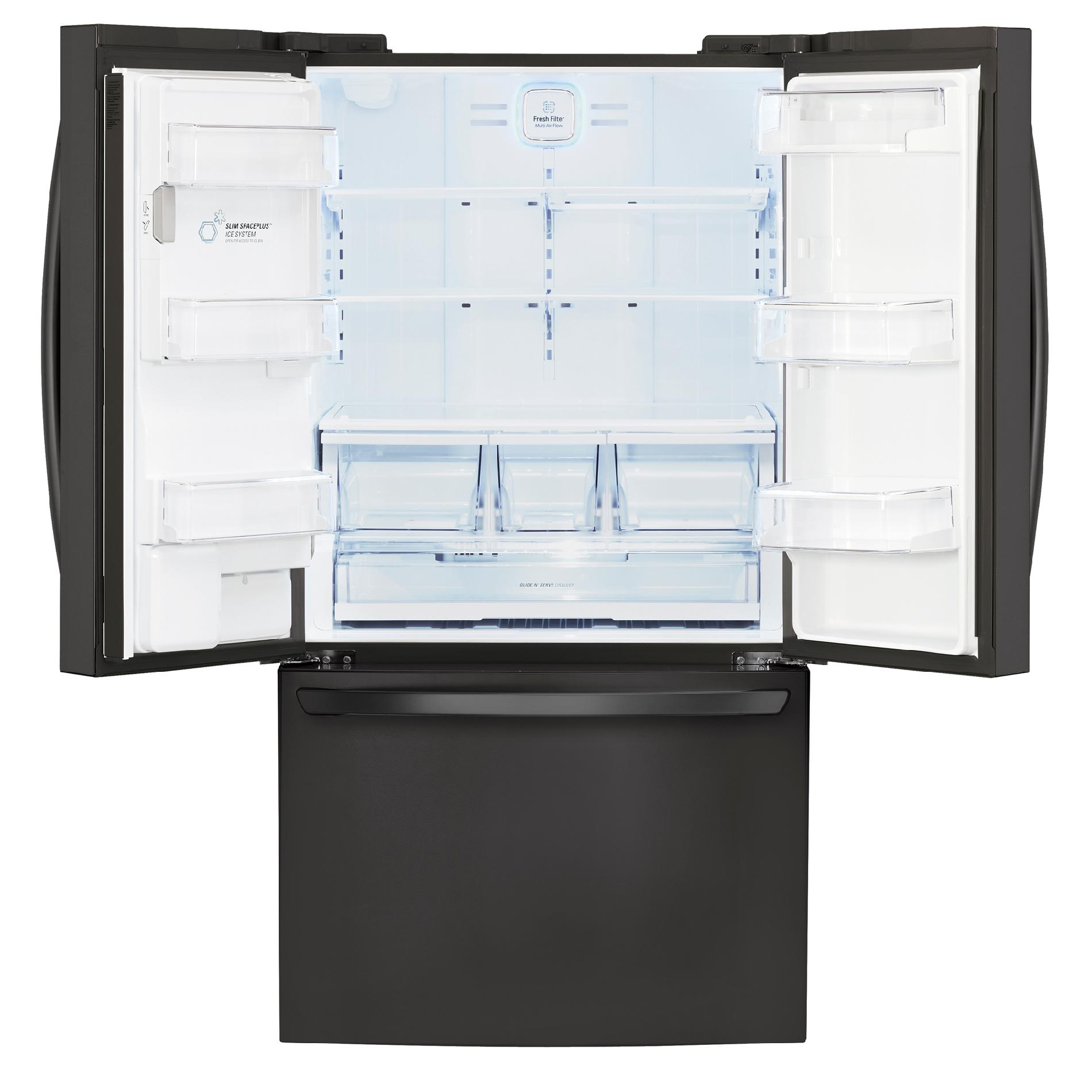 LG 29 cu. ft. French Door Bottom-Freezer Refrigerator w/ Dual Ice Makers - Black