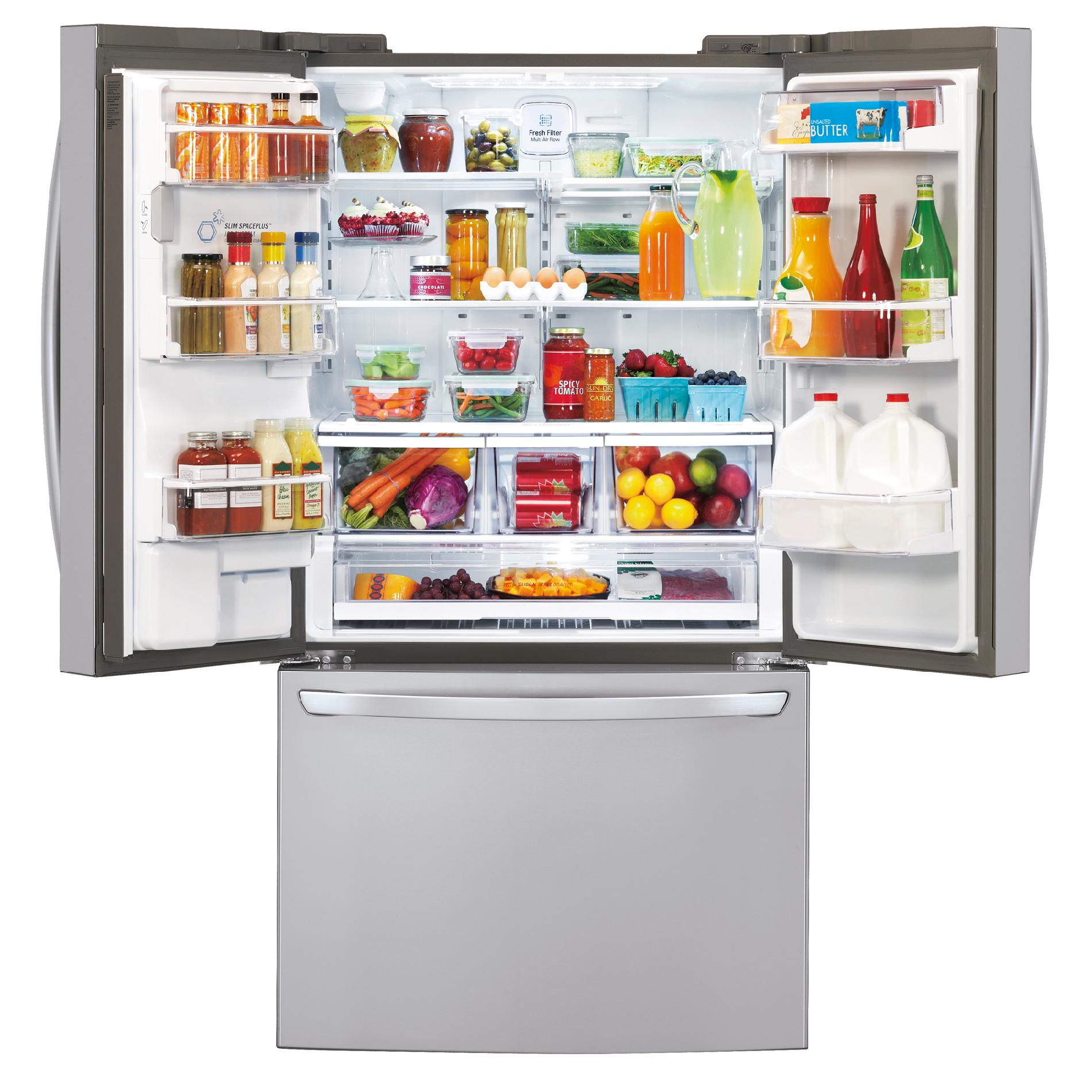 LG 29 cu. ft. French Door Bottom-Freezer Refrigerator w/ Dual Ice Makers - Stainless Steel
