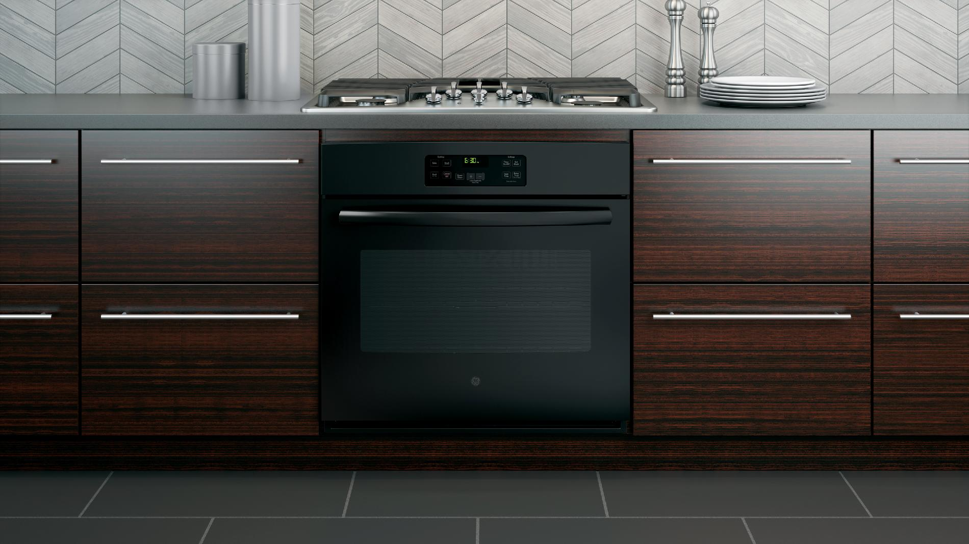 """GE 30"""" Built-In Single Wall Oven - Black"""