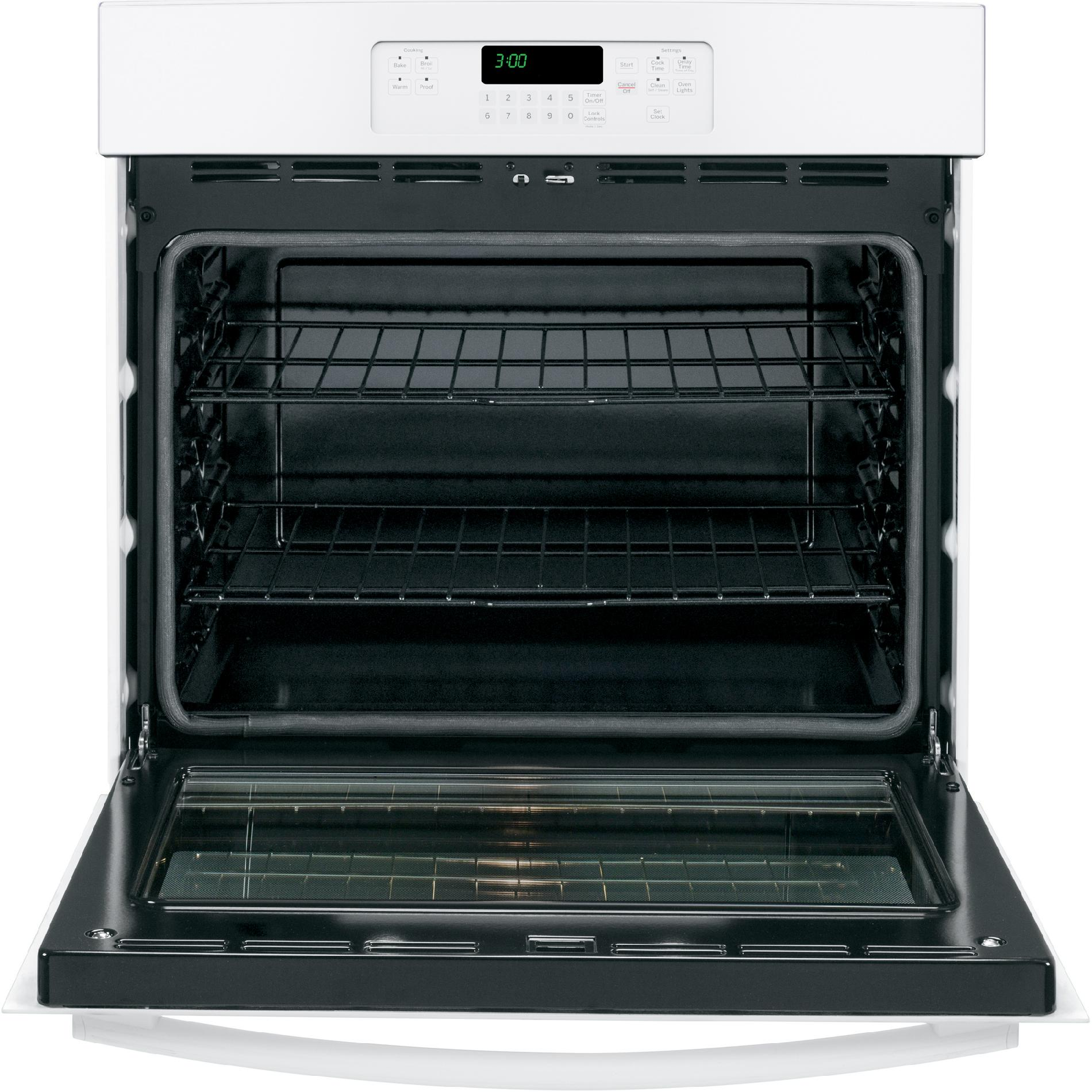 "GE 30"" Electric Single Wall Oven - White"