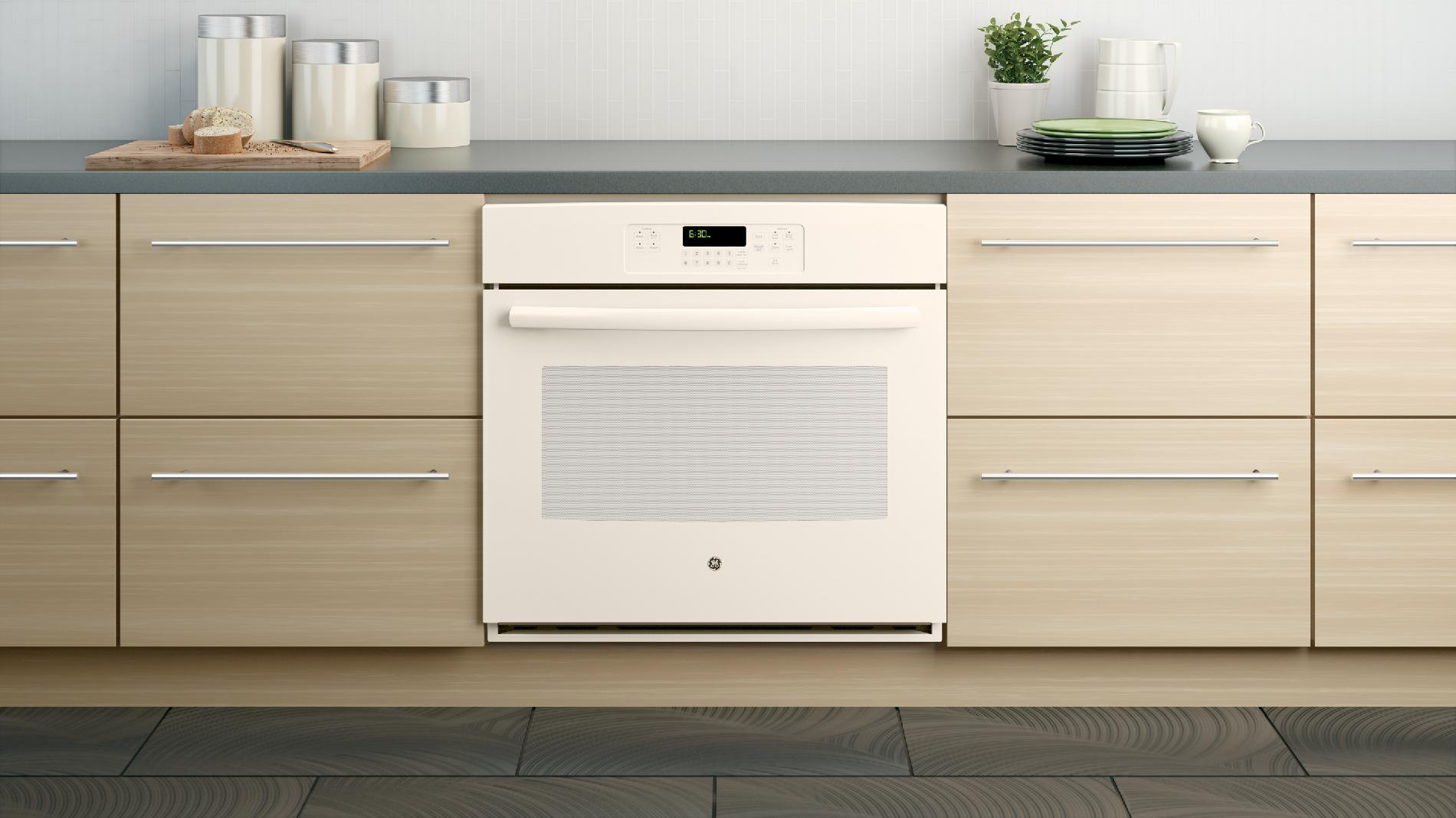 "GE 30"" Electric Single Wall Oven - Bisque"