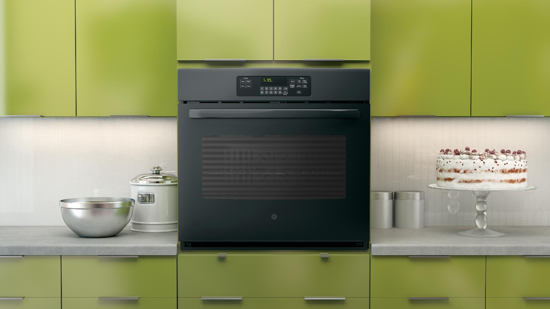 "GE 30"" Electric Single Wall Oven - Black"