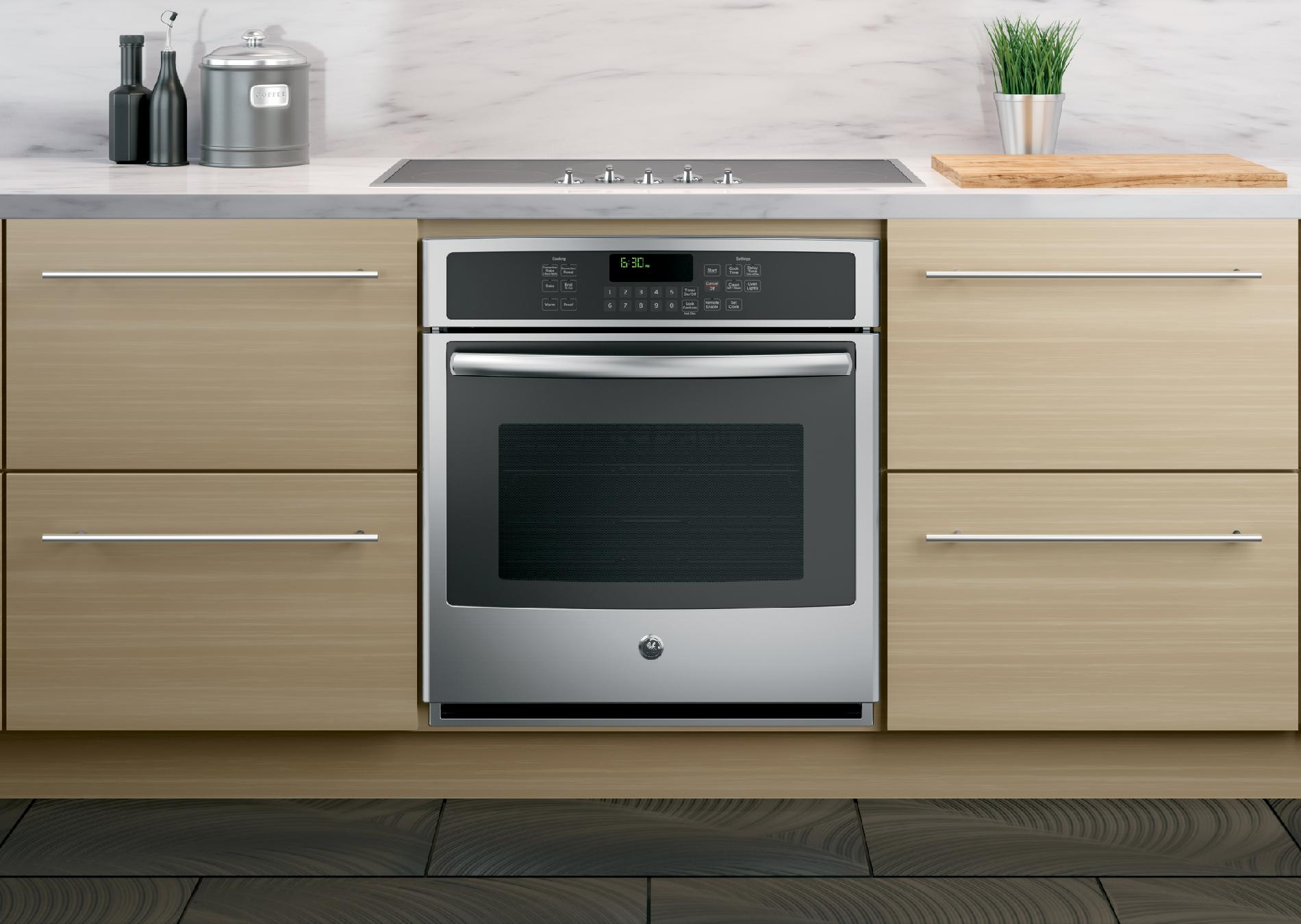 """GE Profile 27"""" Electric Single Wall Oven w/ True Convection - Stainless Steel"""