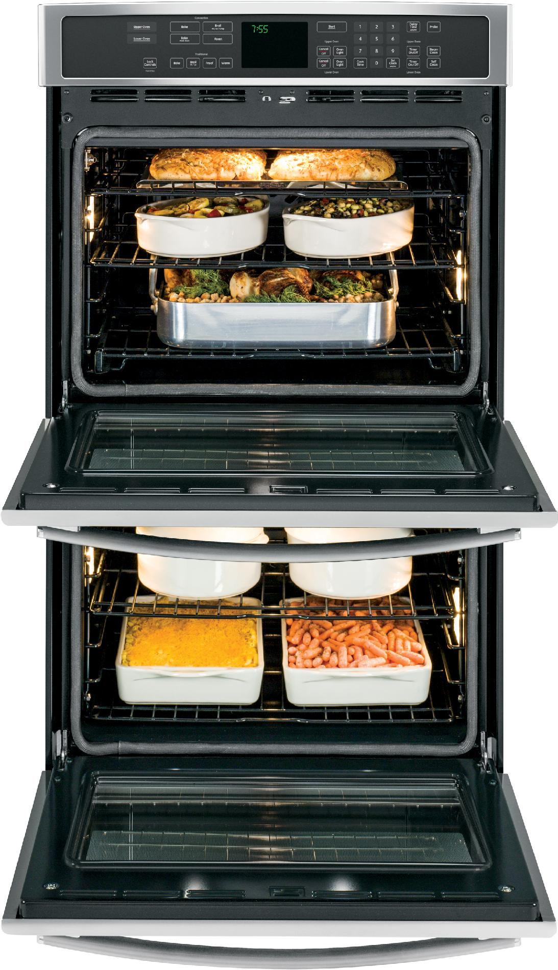 """GE Profile 30"""" Electric Double Wall Oven w/ True Convection - Stainless Steel"""