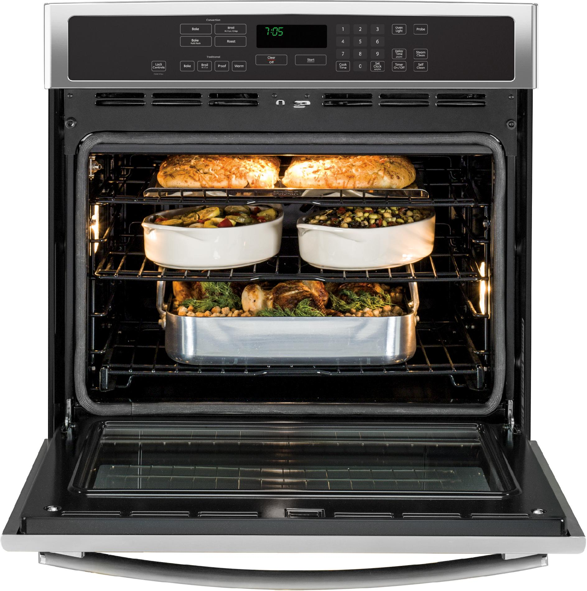 "GE Profile™ Series 30"" Electric Single Wall Oven w/ Convection - Stainless Steel"