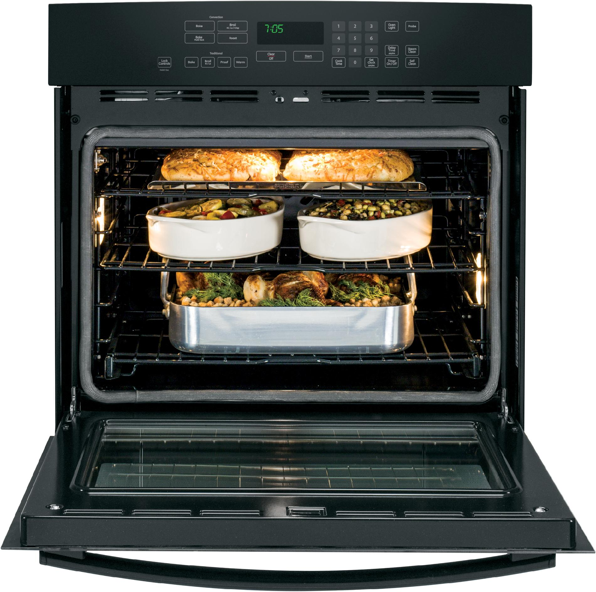"""GE Profile 30"""" Electric Single Wall Oven w/ Convection - Black"""
