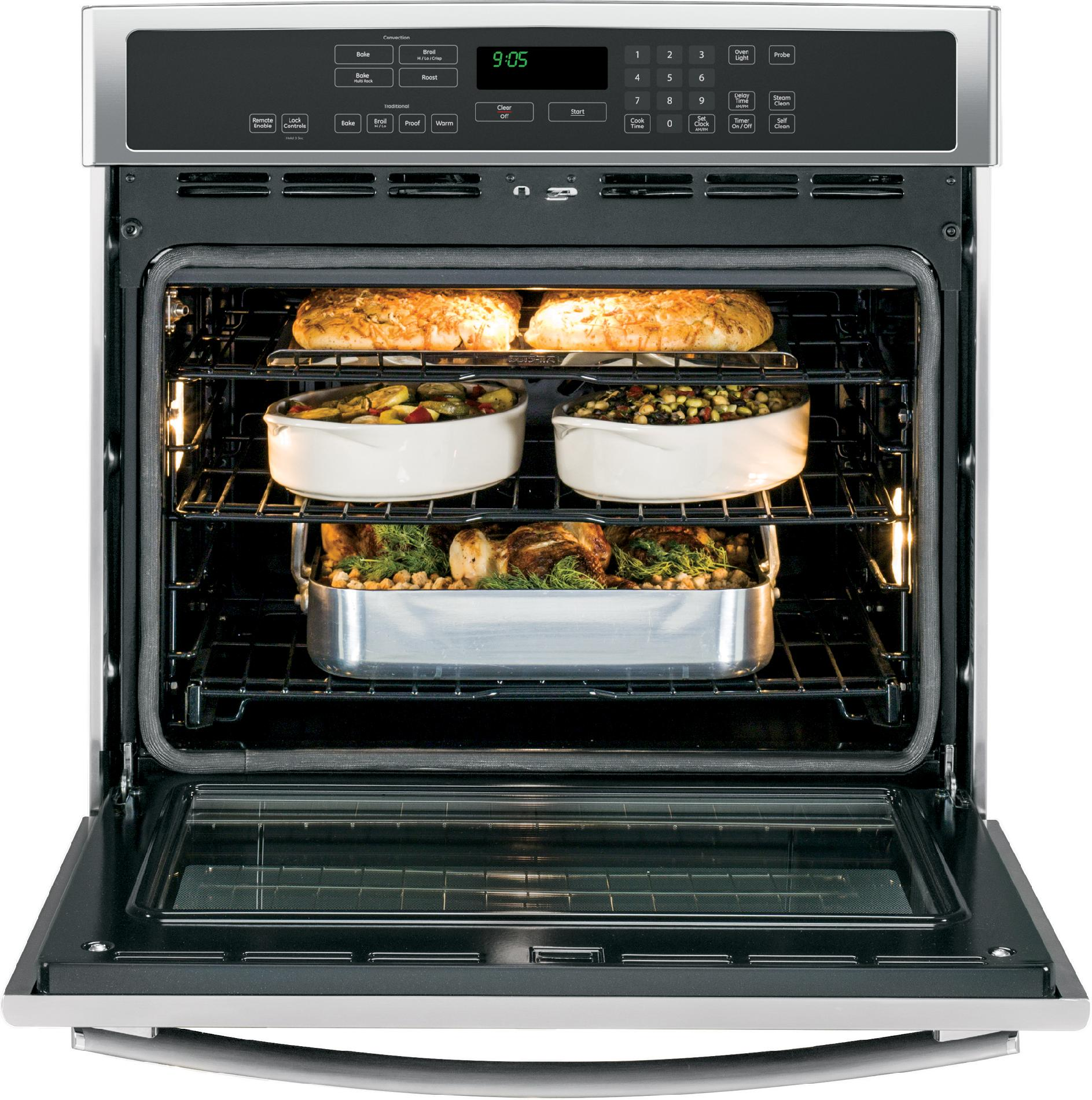"GE Profile 30"" Electric Single Wall Oven w/ True Convection - Stainless"