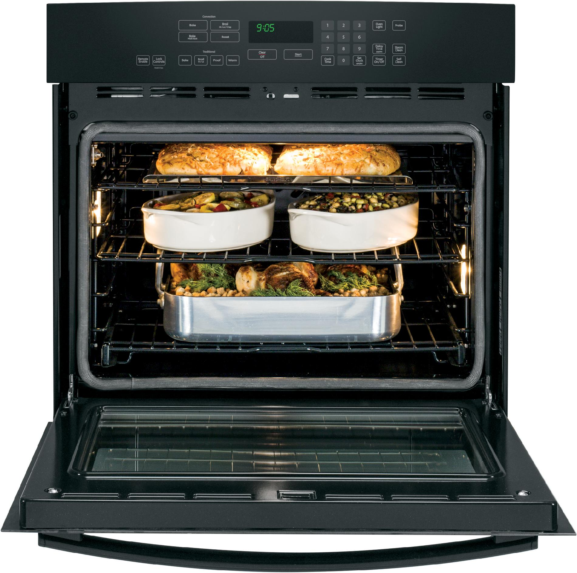 "GE Profile™ Series 30"" Electric Single Wall Oven w/ True Convection - Black"