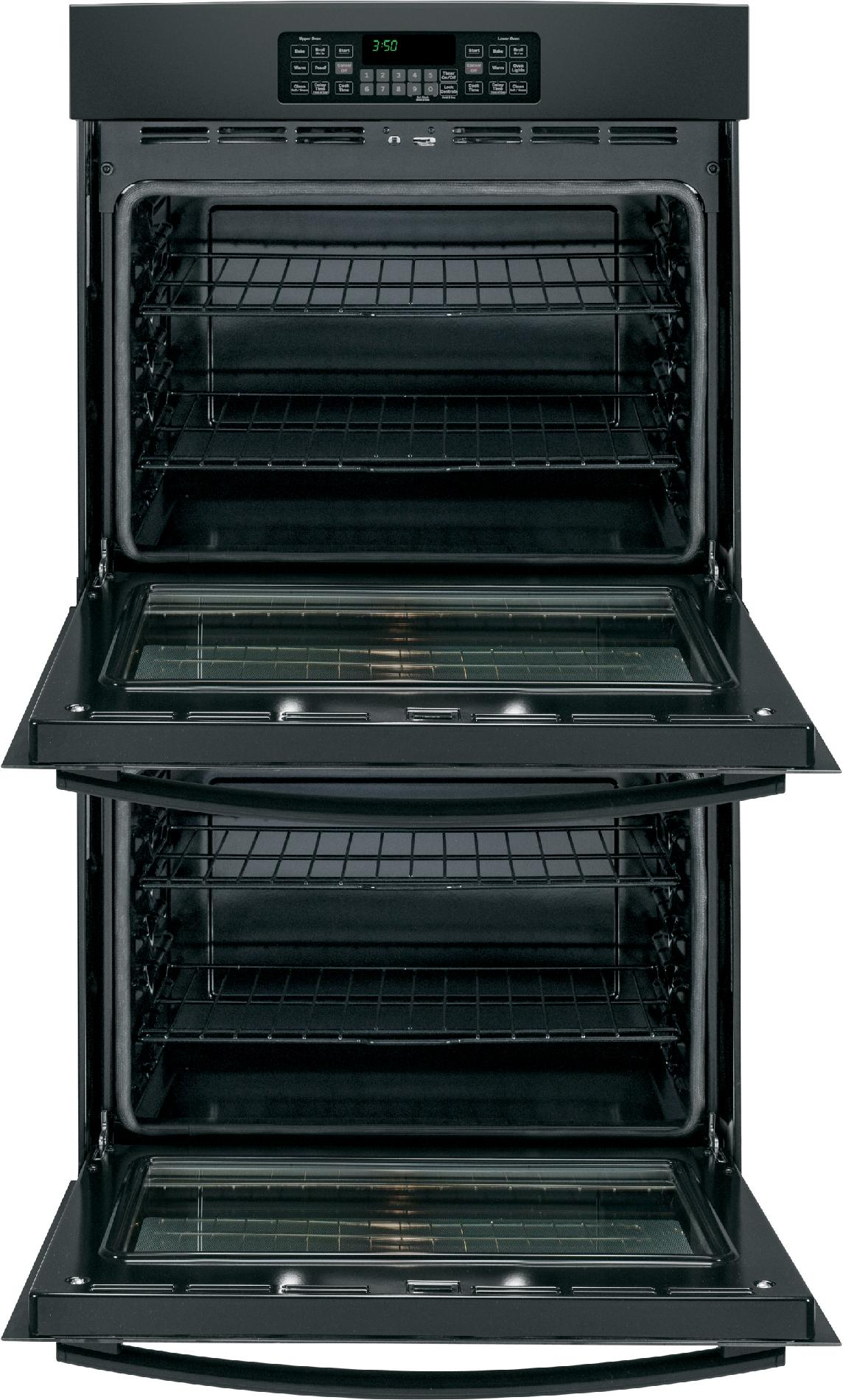 """GE 30"""" Double Electric Wall Oven - Black"""