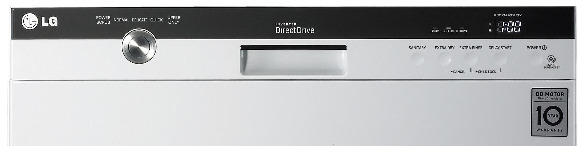 "LG 24"" Built-In Dishwasher w/ EasyRack™ Plus System - White"
