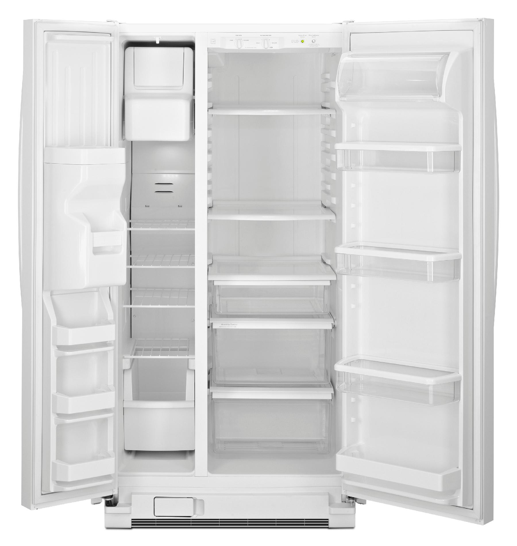 Maytag 22 cu. ft. Side-by-Side Refrigerator w/ Ice & Water Dispenser - White