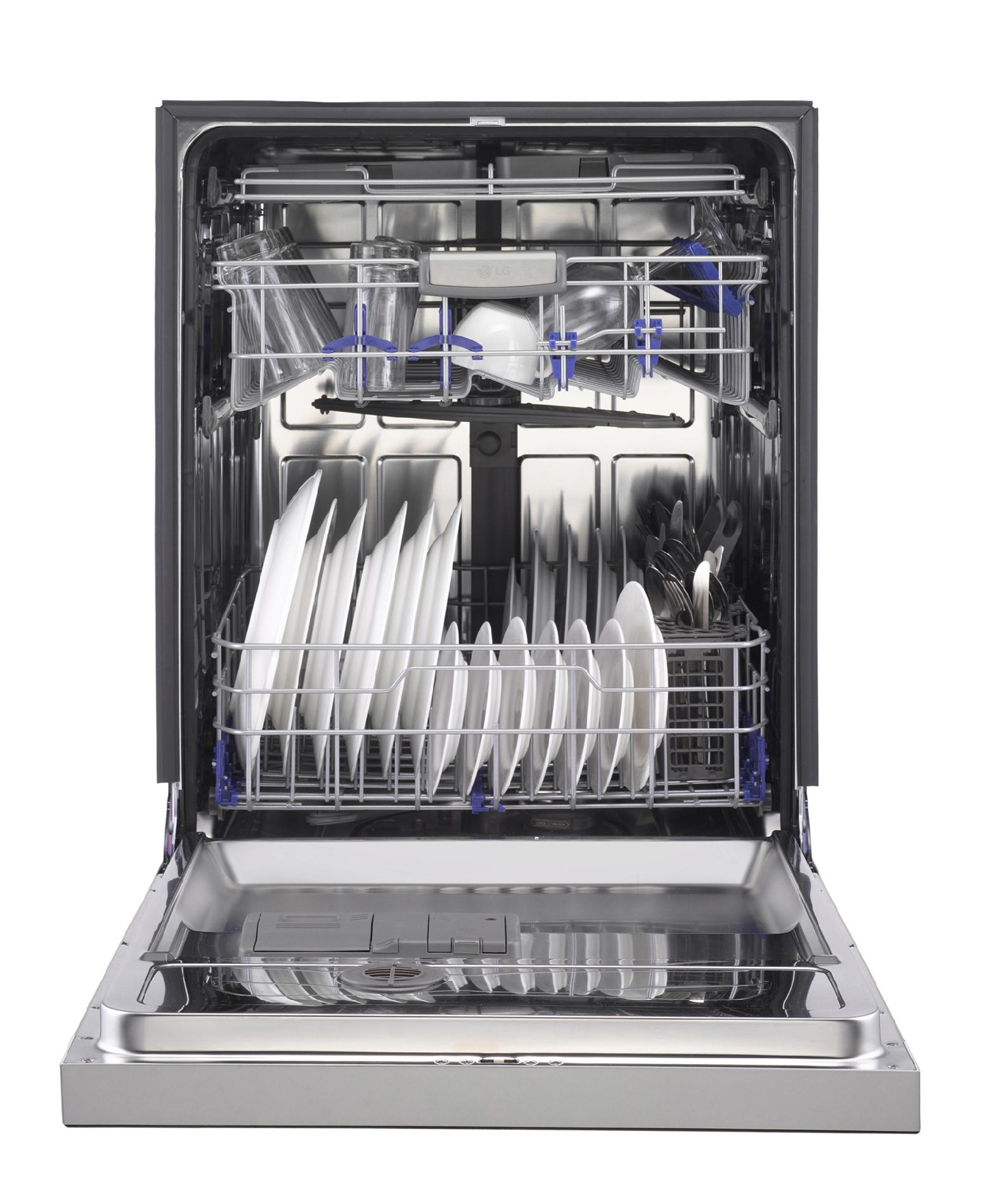 """LG 24"""" Built-In Dishwasher w/ SenseClean™ - Stainless Steel"""