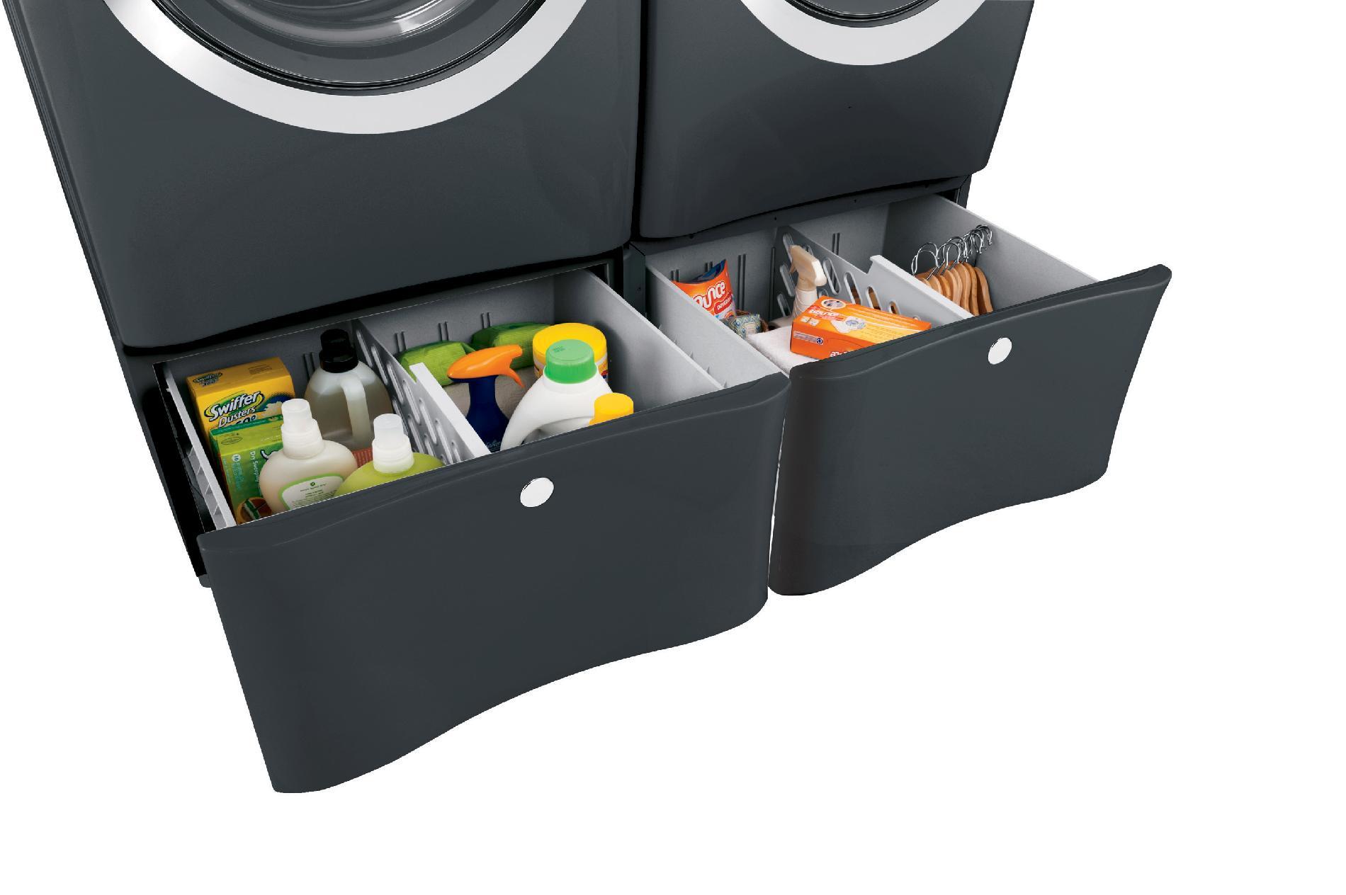 "Electrolux 15"" Laundry Pedestal w/ Drawer - Titanium"