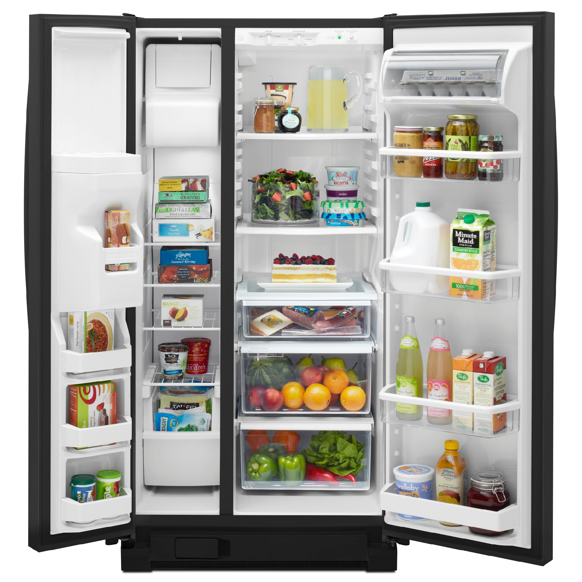 Maytag 22 cu. ft. Side-by-Side Refrigerator w/ Ice & Water Dispenser - Black