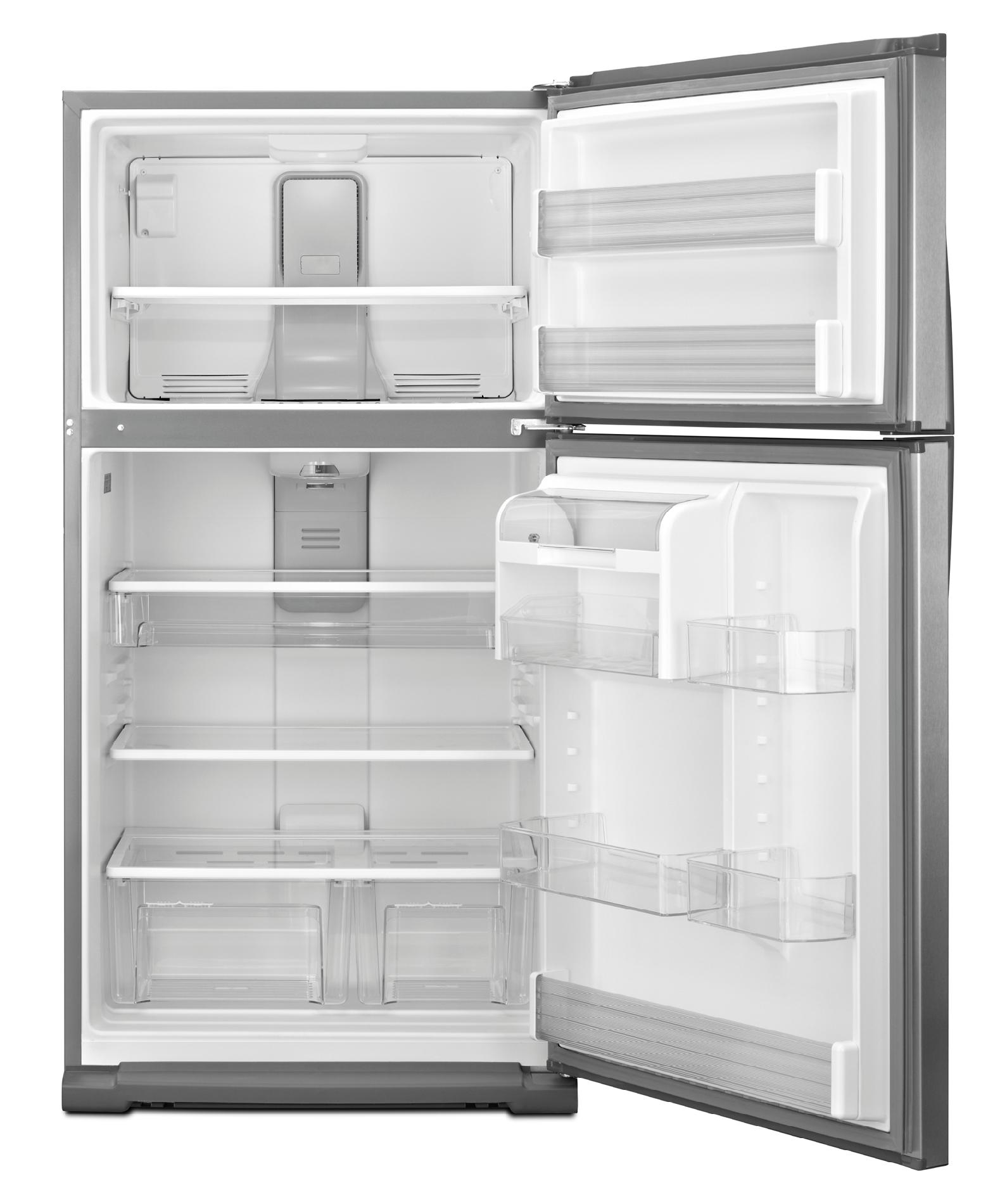 Whirlpool 21.0 cu. ft. Top-Freezer Refrigerator w/ Smooth, Contoured Doors - Stainless Steel