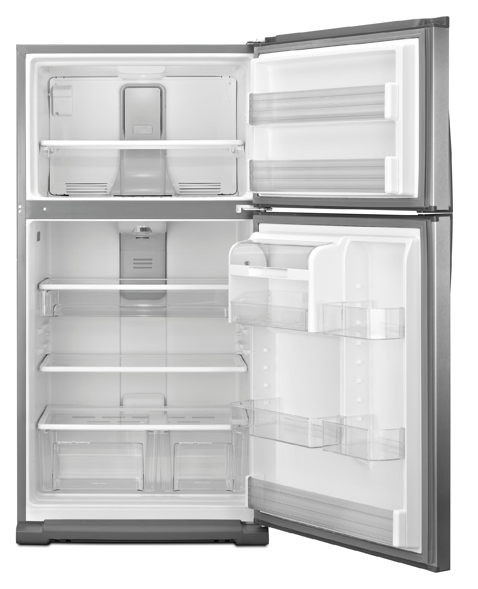 Whirlpool 21.0 cu. ft. Top-Freezer Refrigerator w/ Smooth, Contoured Doors - Metallic