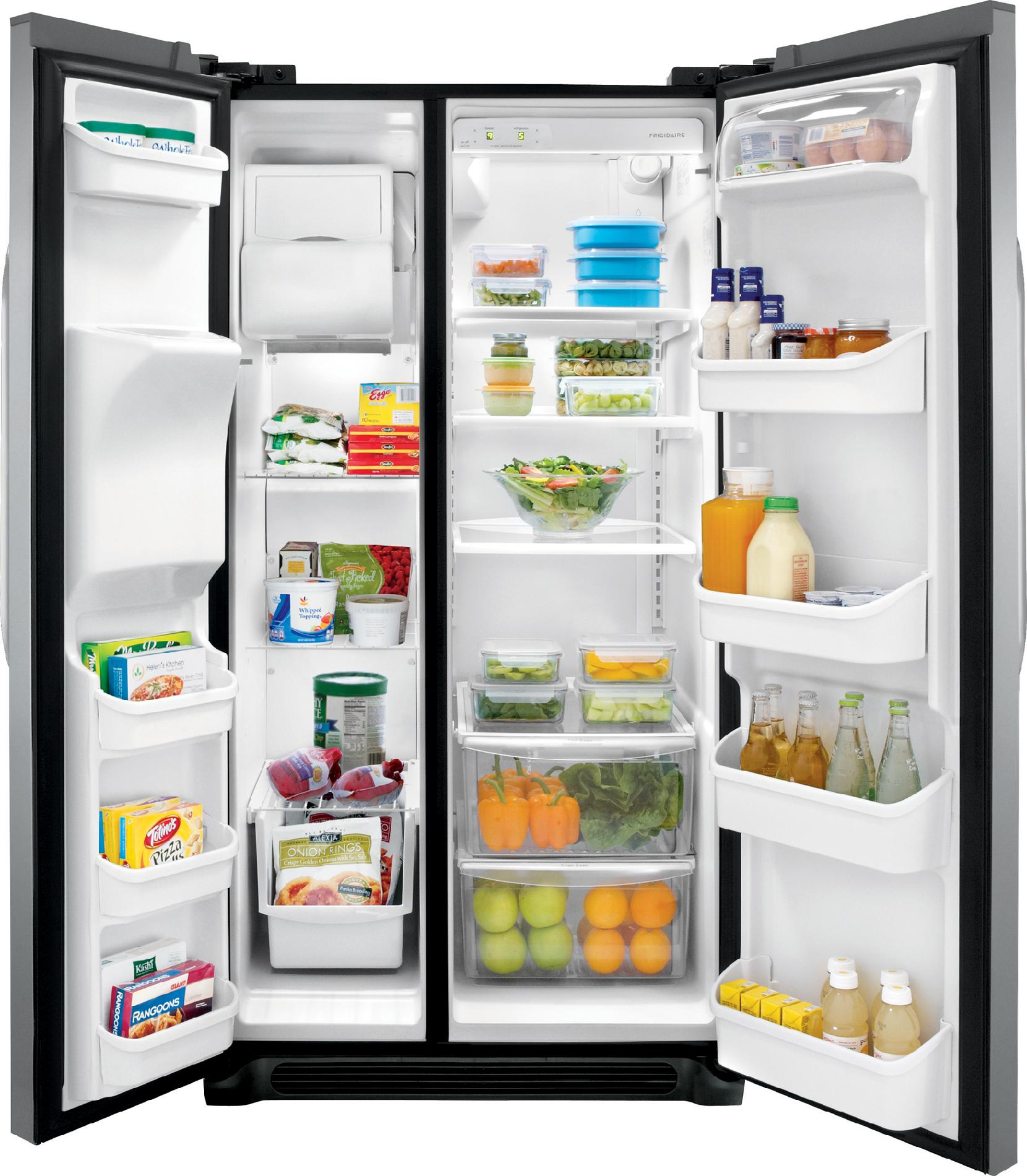 Frigidaire 22.6 cu. ft. Side-by-Side Refrigerator - Stainless Steel
