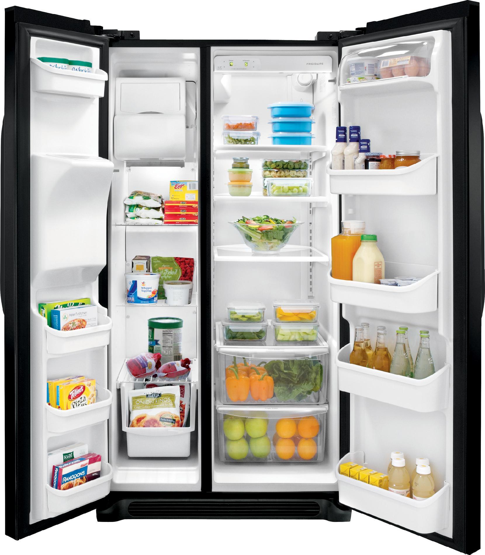 Frigidaire 22.6 cu. ft. Side-by-Side Refrigerator - Black