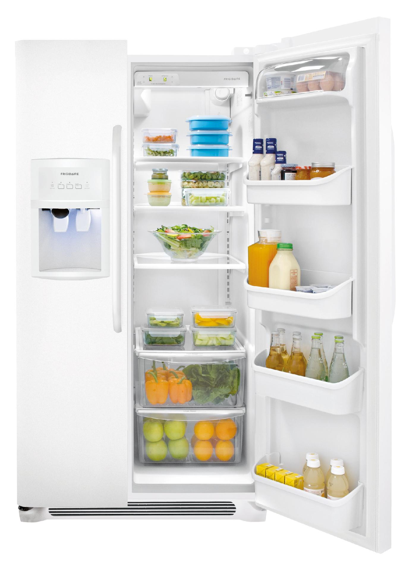 Frigidaire 22.6 cu. ft. Side-by-Side Refrigerator - White