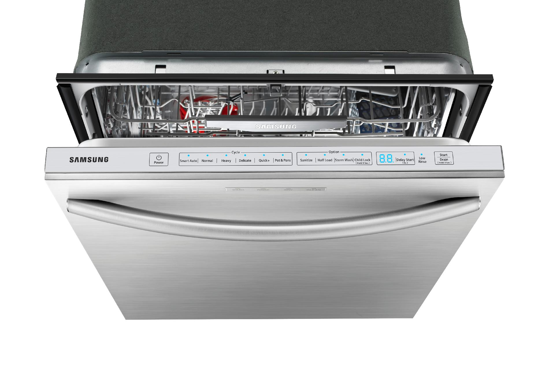 "Samsung 24"" Built-In Dishwasher w/ Stainless Steel Tub - Stainless Steel"