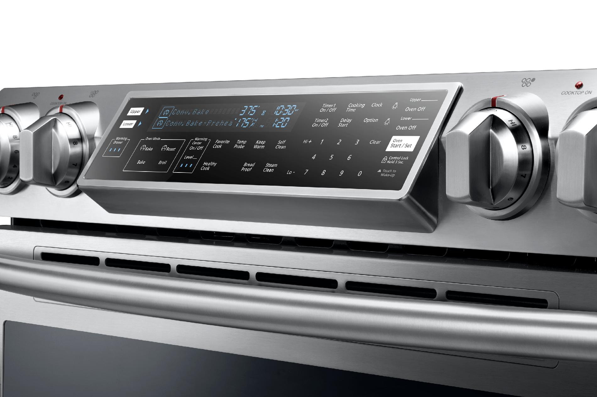 "Samsung NE58F9710WS 30"" Flex Duo™ Slide-In Electric Range w/ Convection Oven - Stainless Steel"