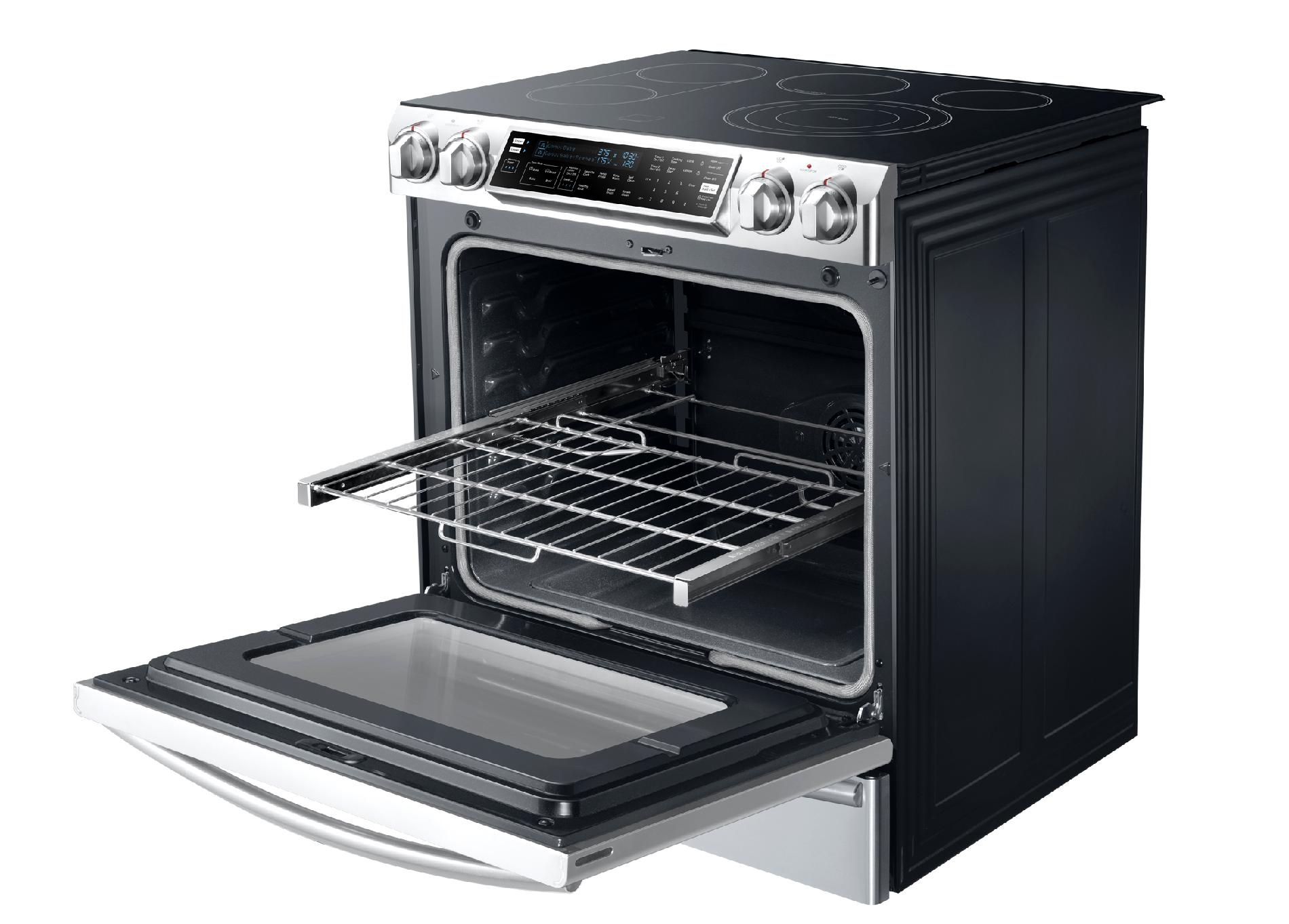 "Samsung 30"" Flex Duo™ Slide-In Electric Range w/ Convection Oven - Stainless Steel"