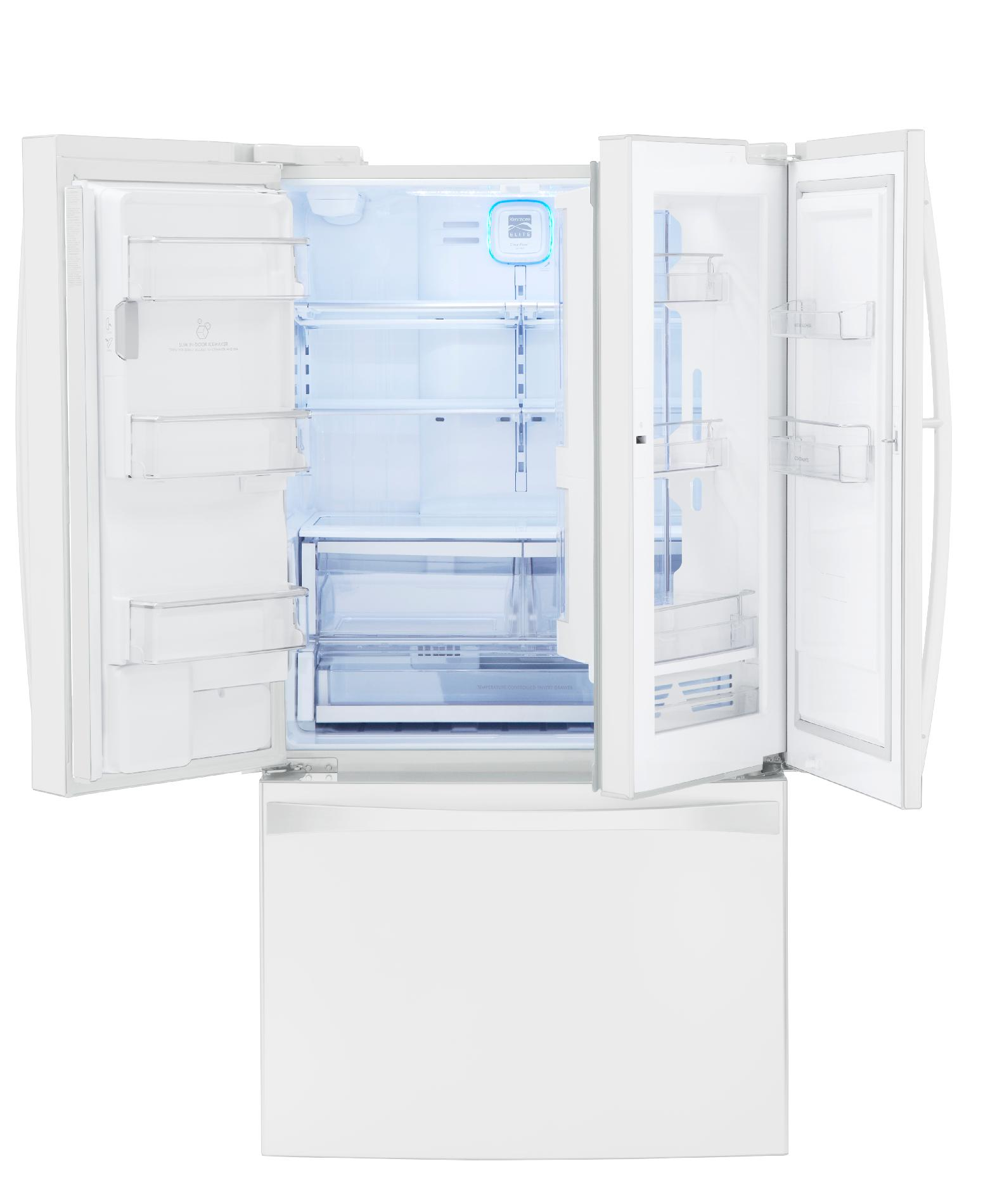 Kenmore Elite 29 cu. ft. Grab-N-Go French Door Bottom-Freezer Refrigerator - White