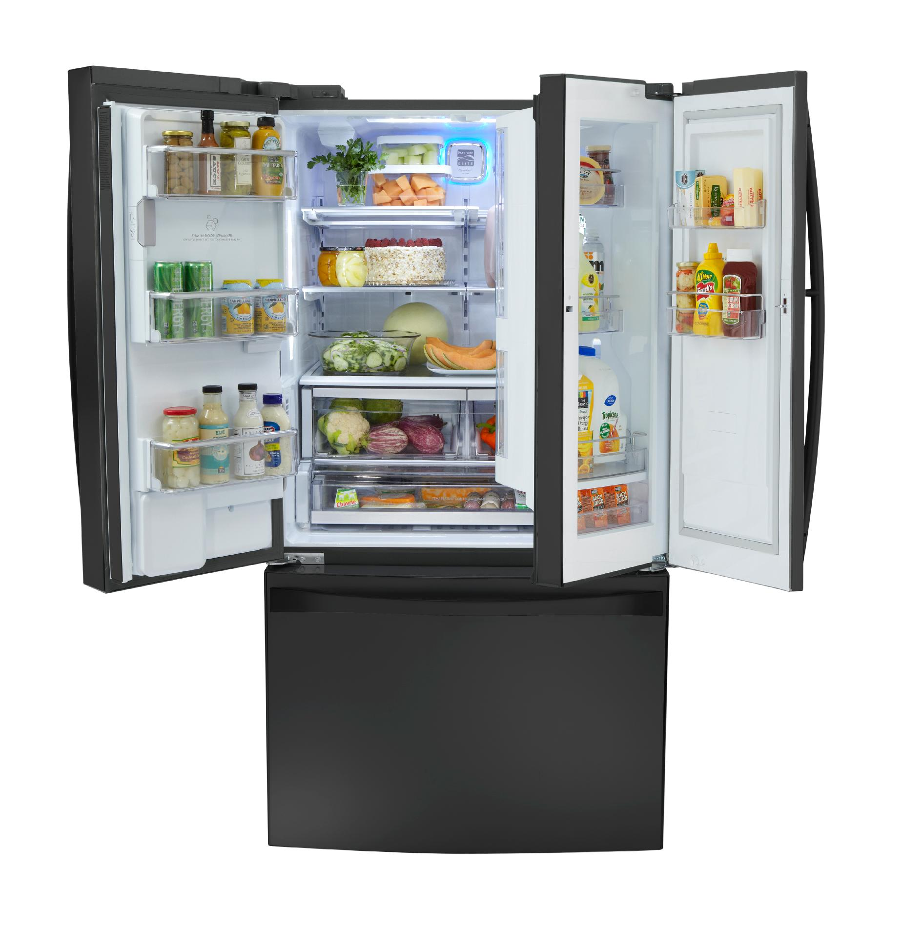 Kenmore Elite 29 cu. ft. Grab-N-Go French Door Bottom-Freezer Refrigerator – Black